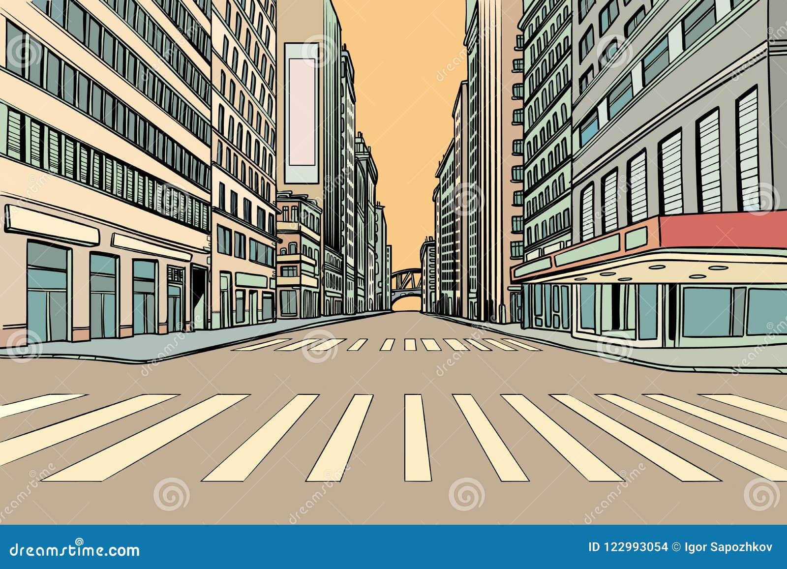 Пешеходный переход в большом городе