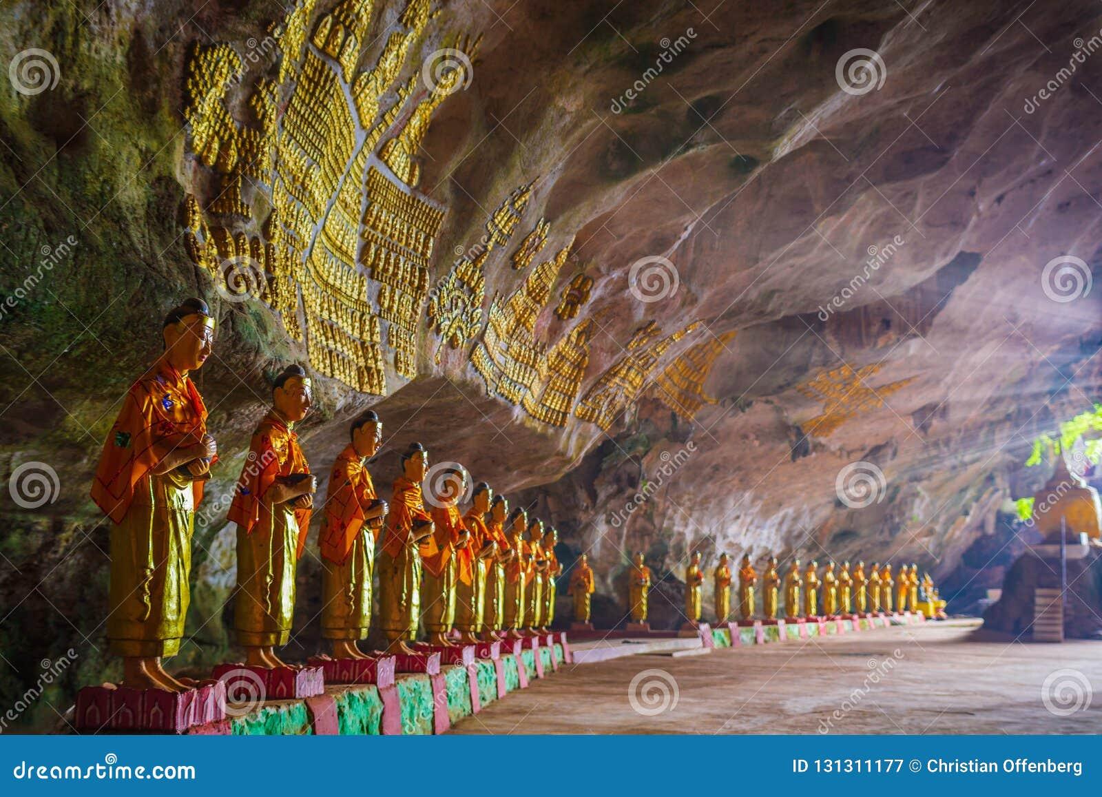 Пещера греха Sadan минимальная Hpa-An, Мьянма Бирма
