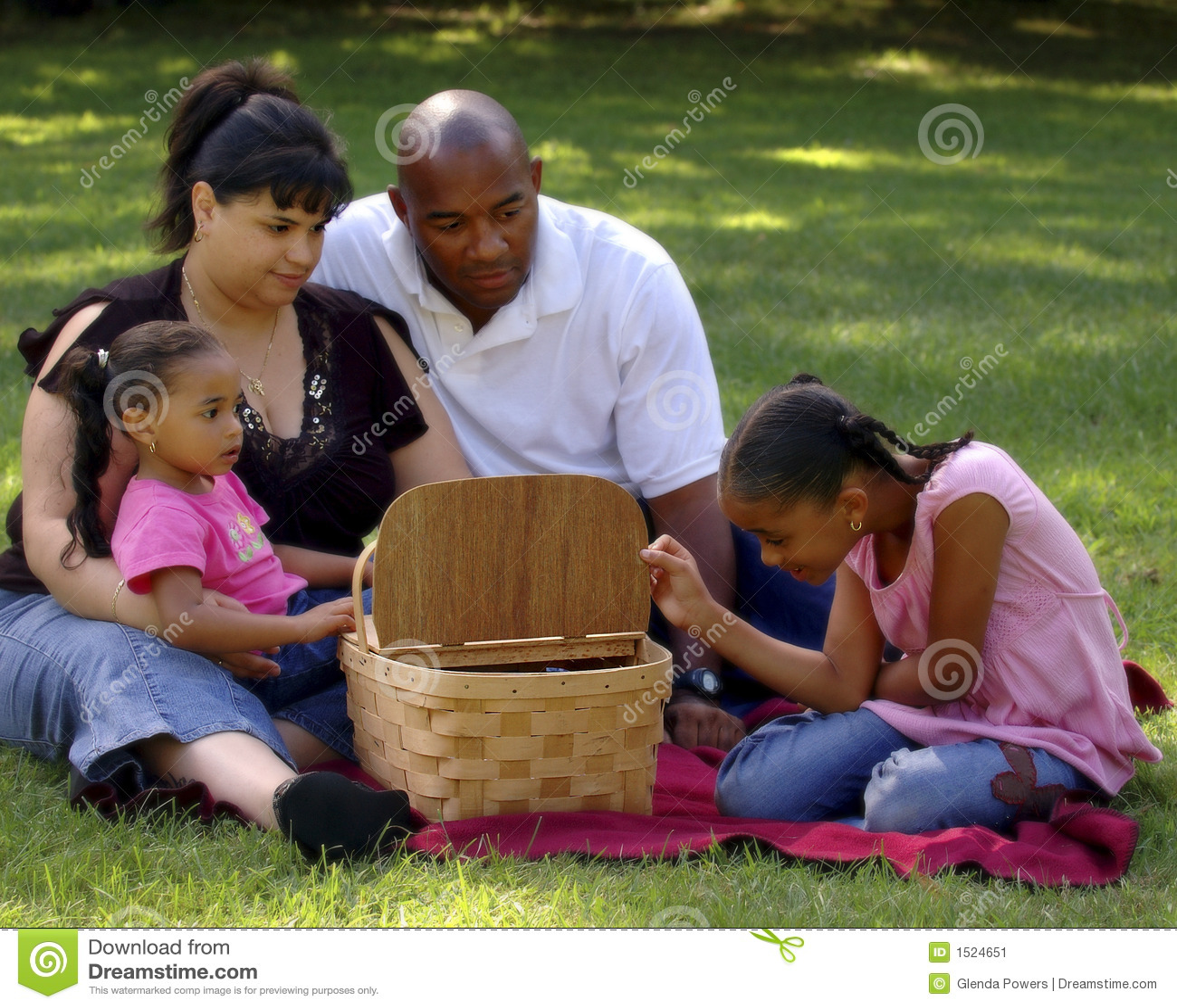 пикник семьи bi расовый