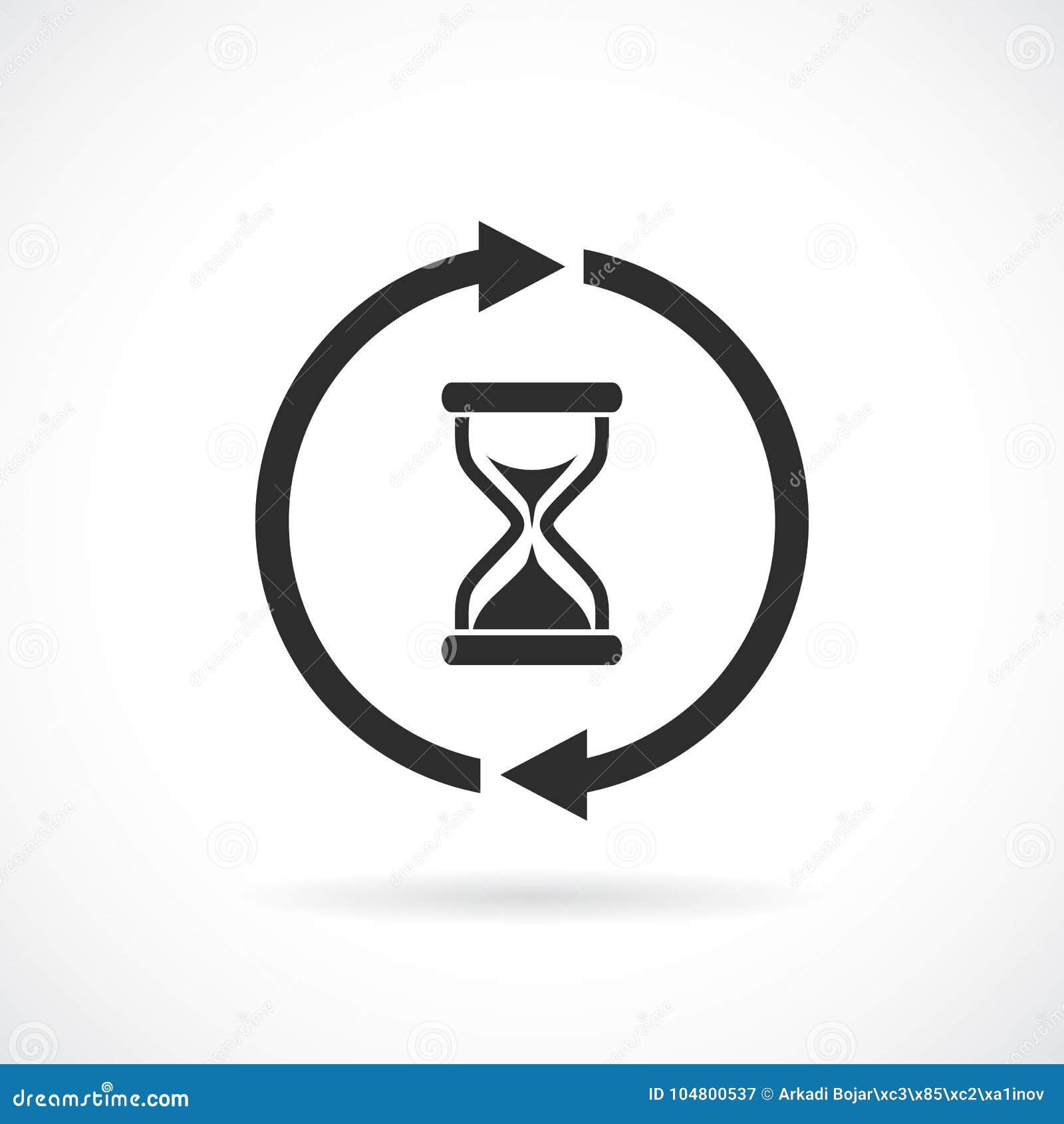 Пиктограмма вектора сети времени ожидания