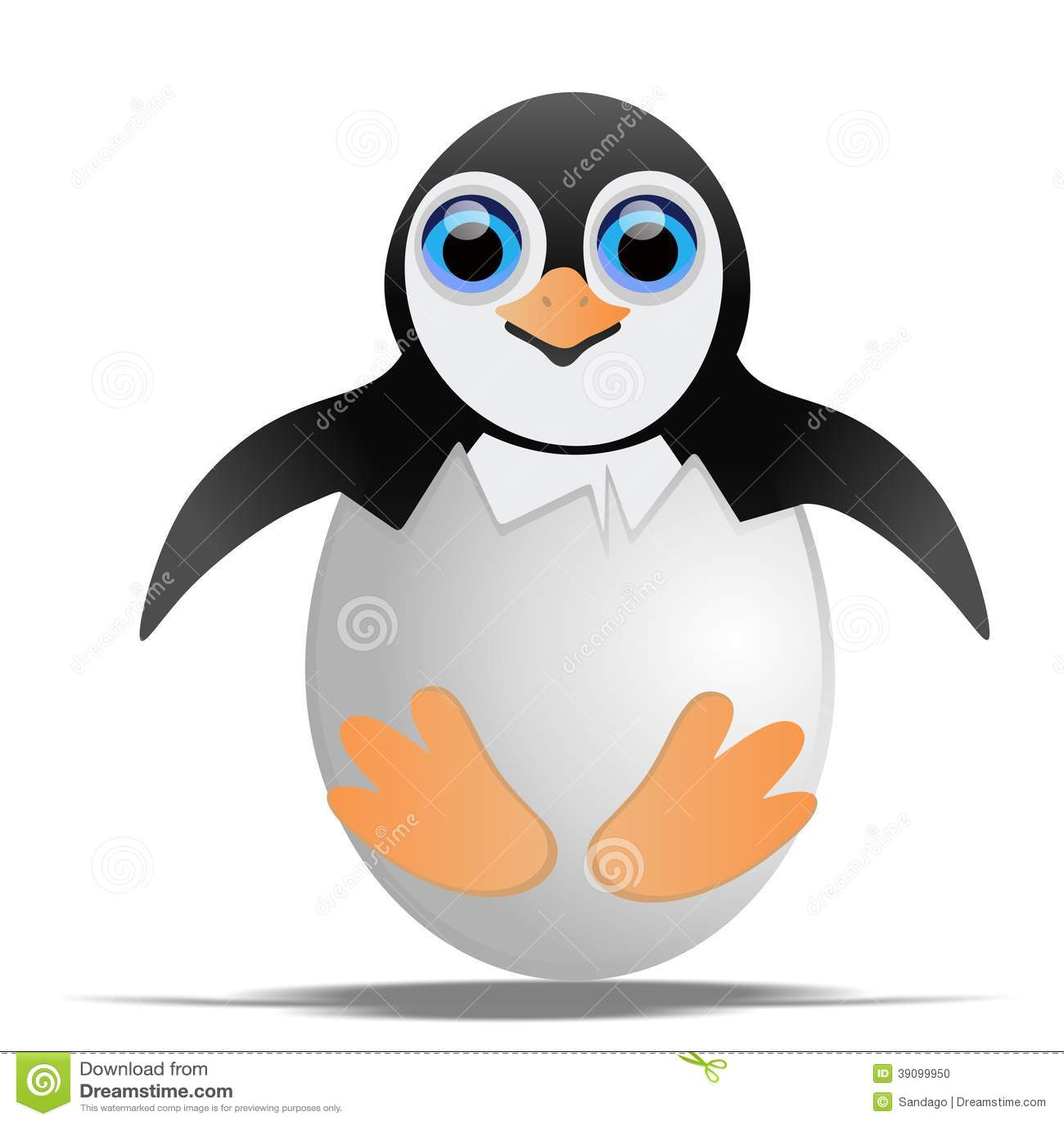 Пингвин в раковине яичка