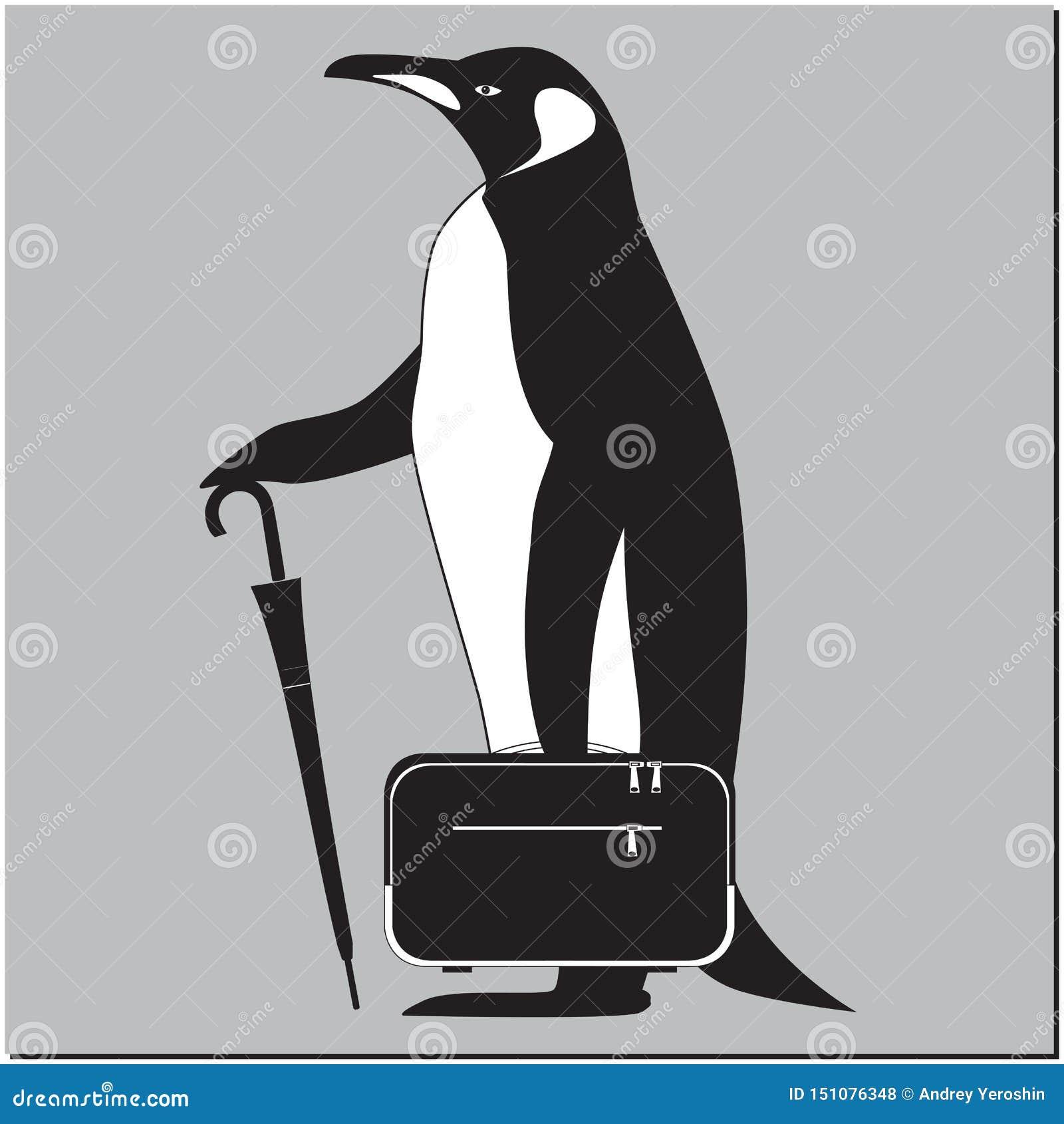 Пингвин с портфелем
