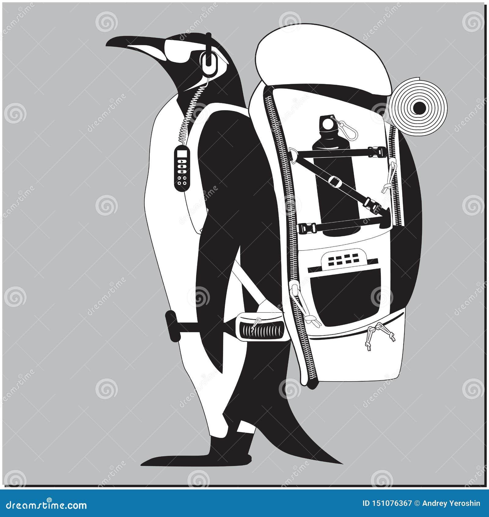 Пингвин с рюкзаком
