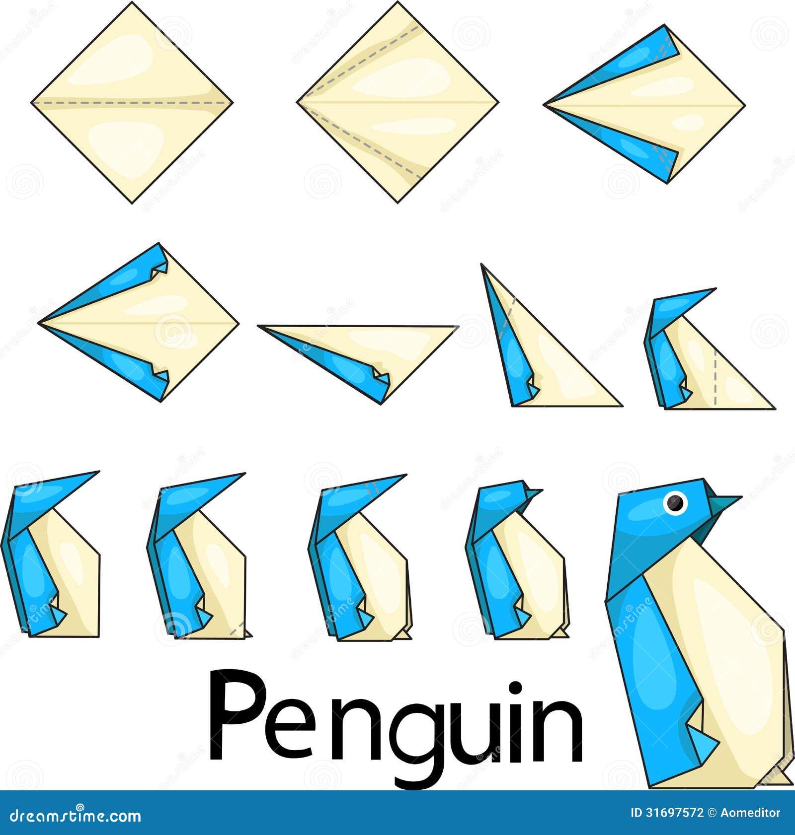 Как сделать пингвина из бумаги поэтапно