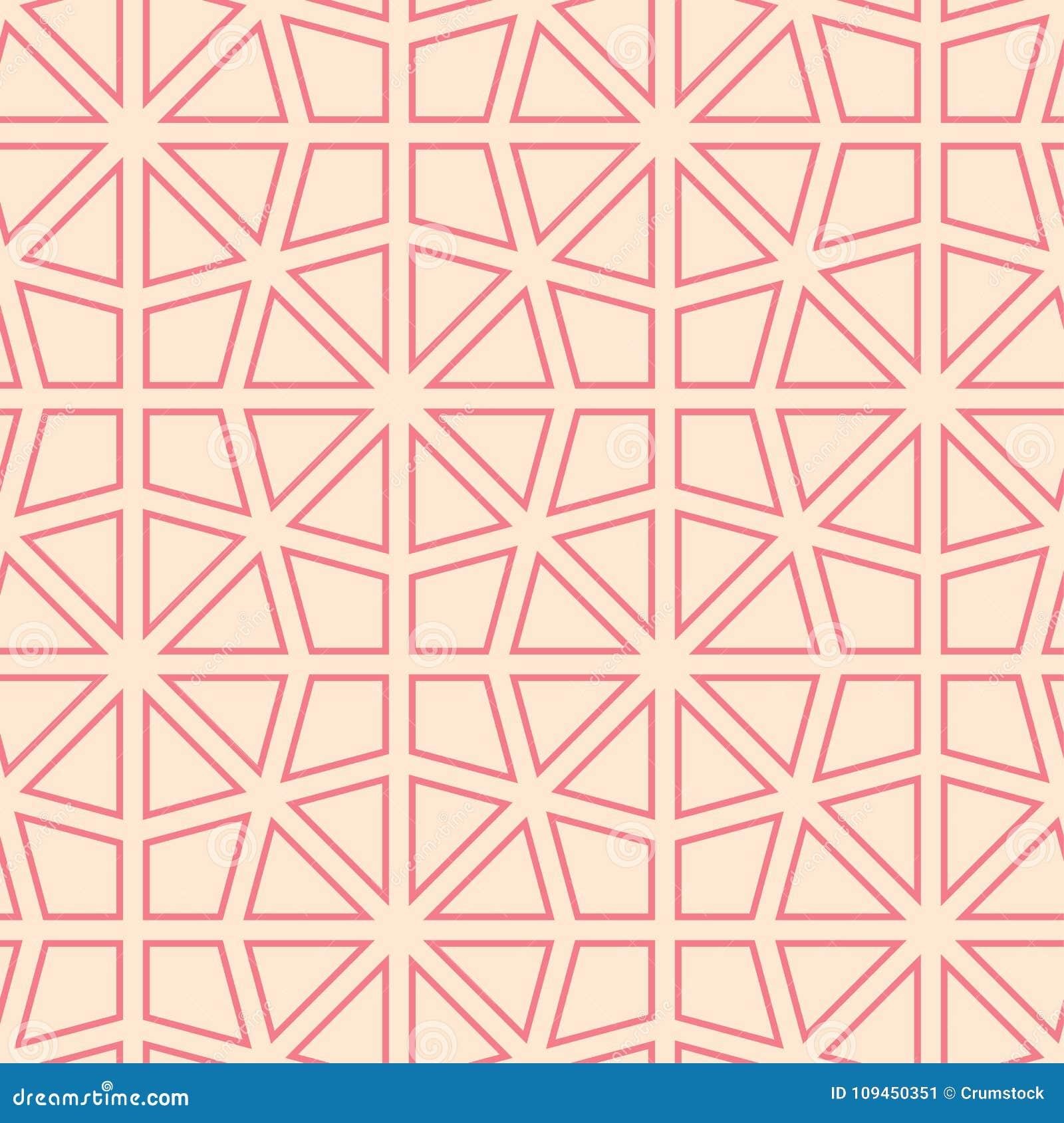 Пинк и бежевый геометрический орнамент картина безшовная