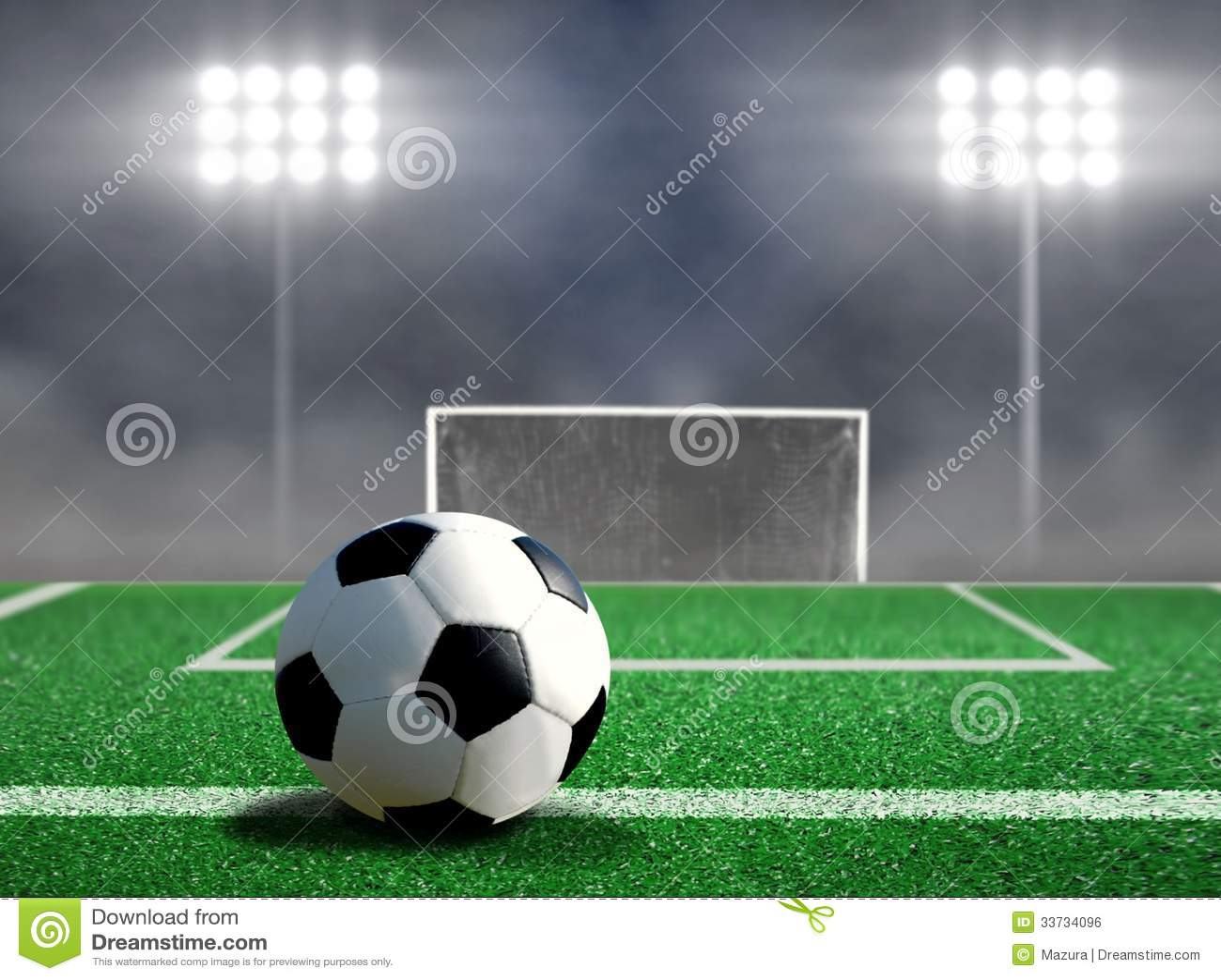 Пинок футбола свободный с фарами
