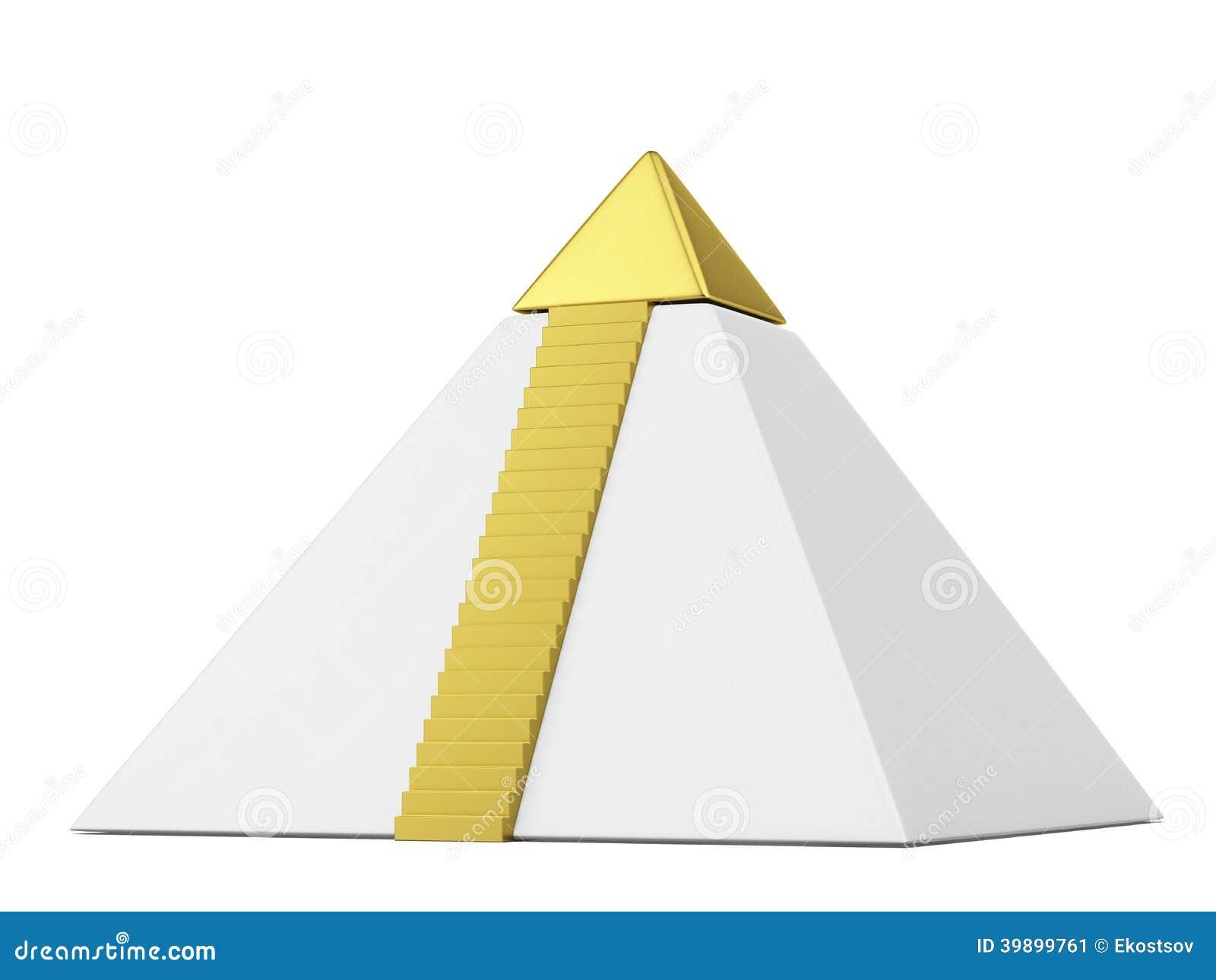 Пирамида с верхней частью золота