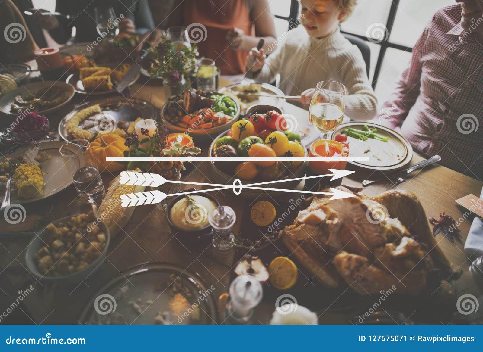Пиршество обедающего семьи благодарения значка