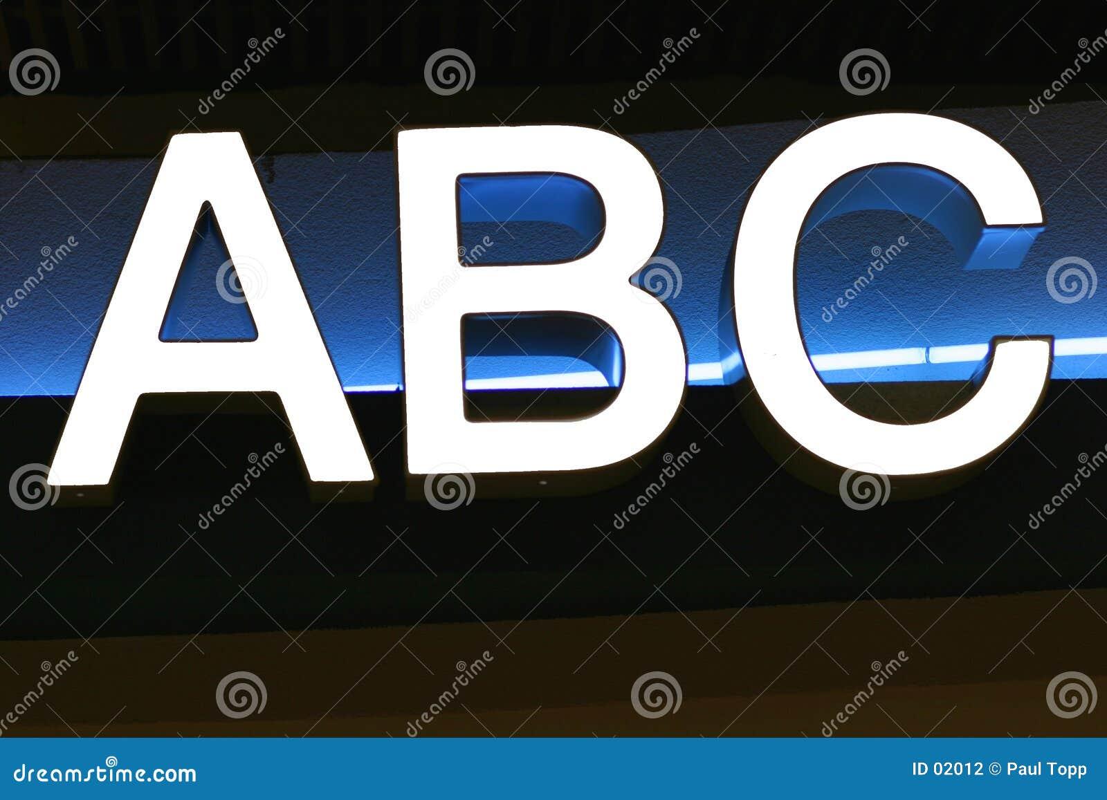 письма алфавита abc