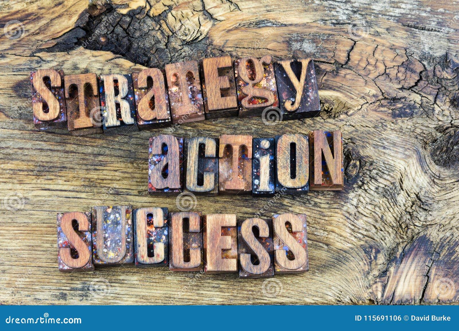 Письма успеха действия стратегии деревянные