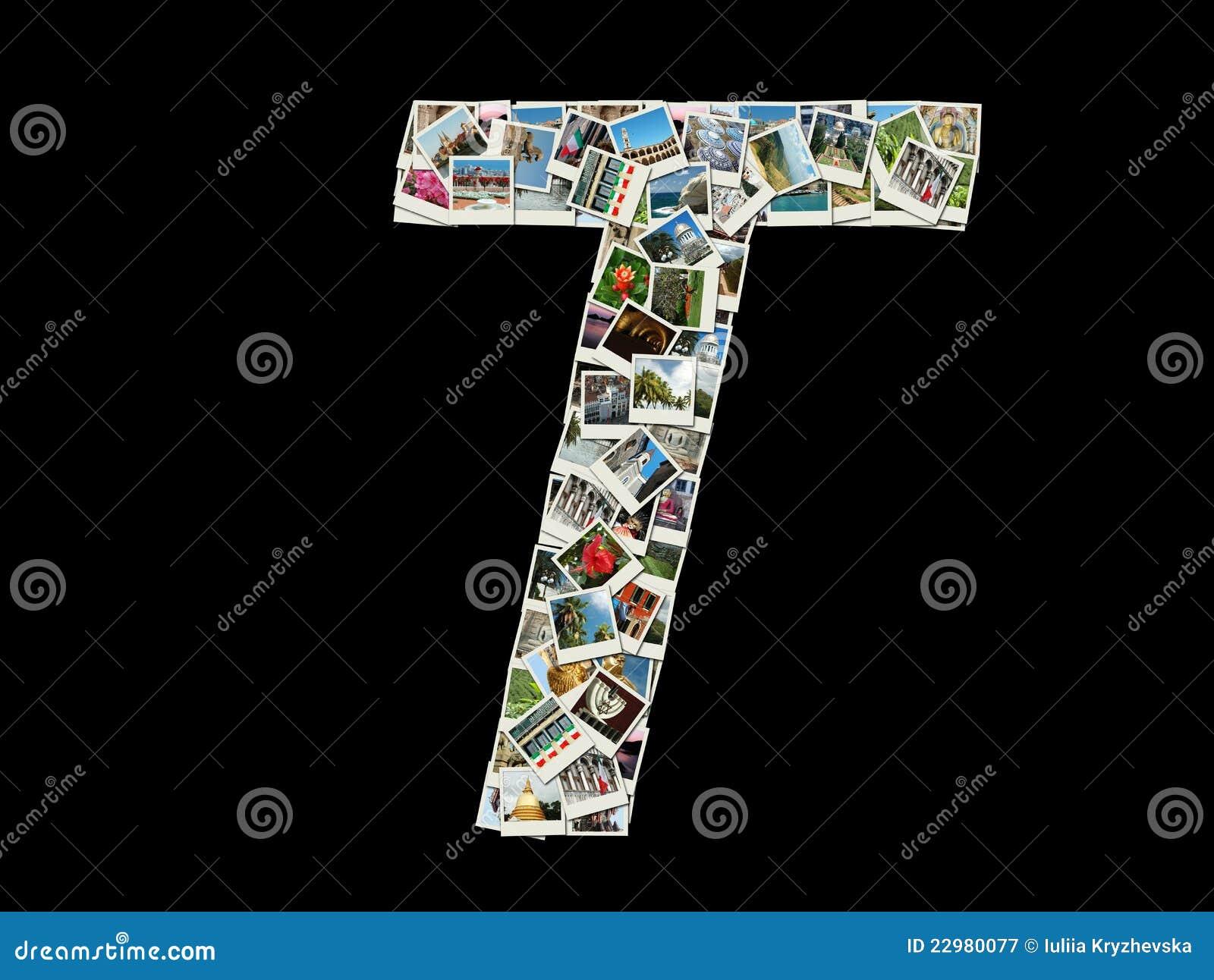 Письмо t - коллаж фото перемещения