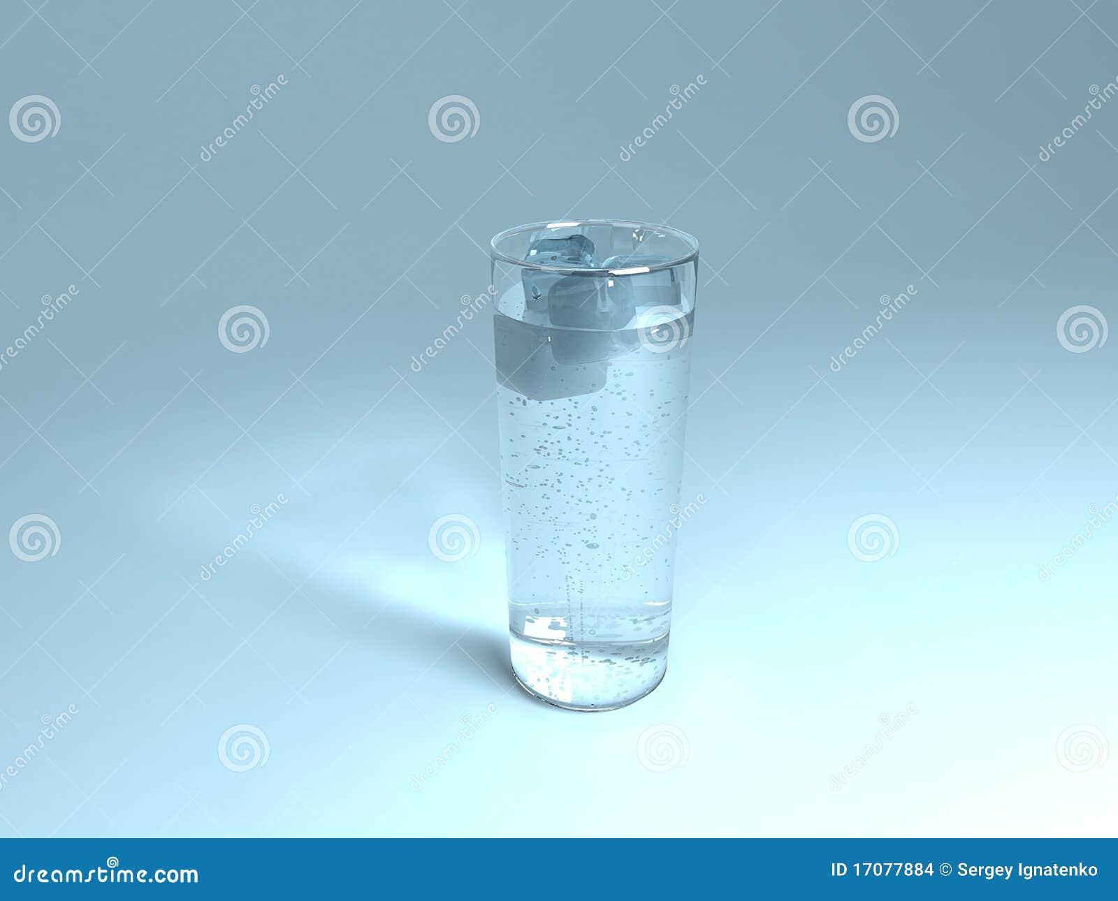 питье 3d представляет прозрачную воду