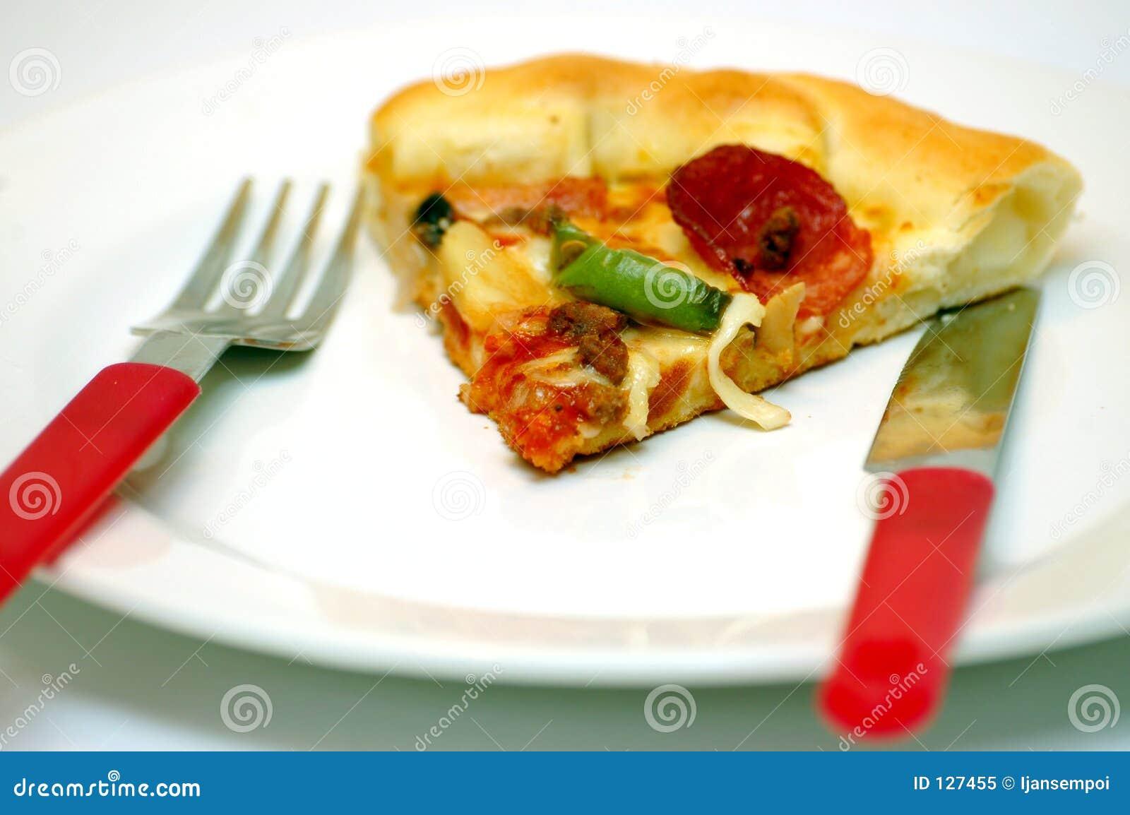 пицца еды
