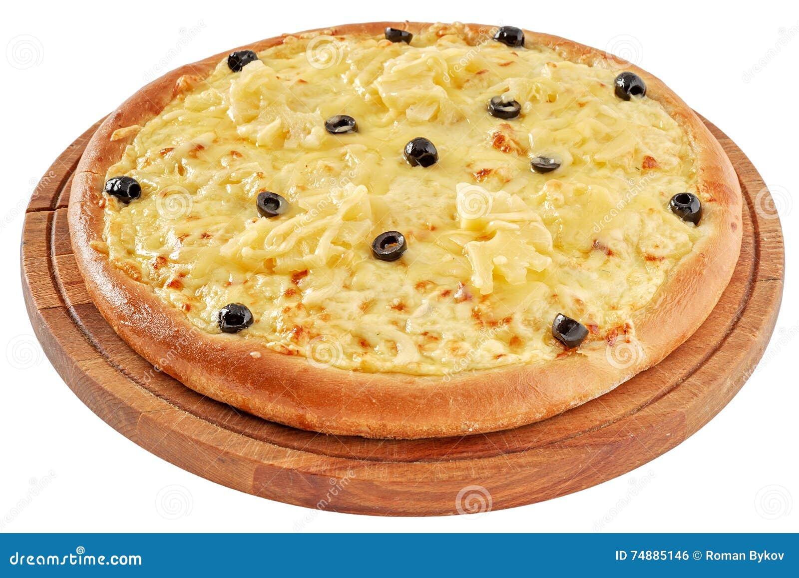 Пицца с цыпленком и ананасом