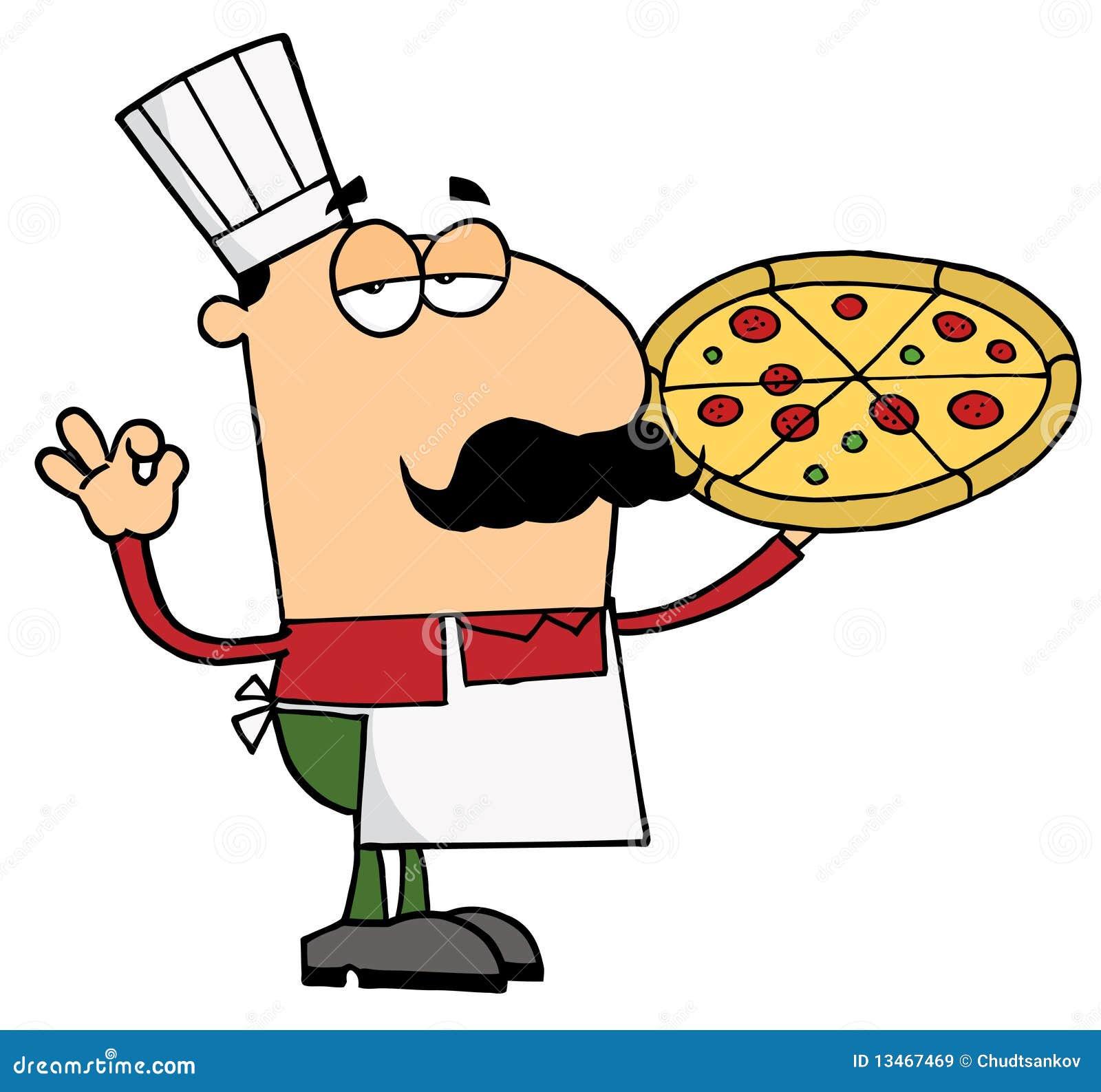 пицца человека шеф-повара