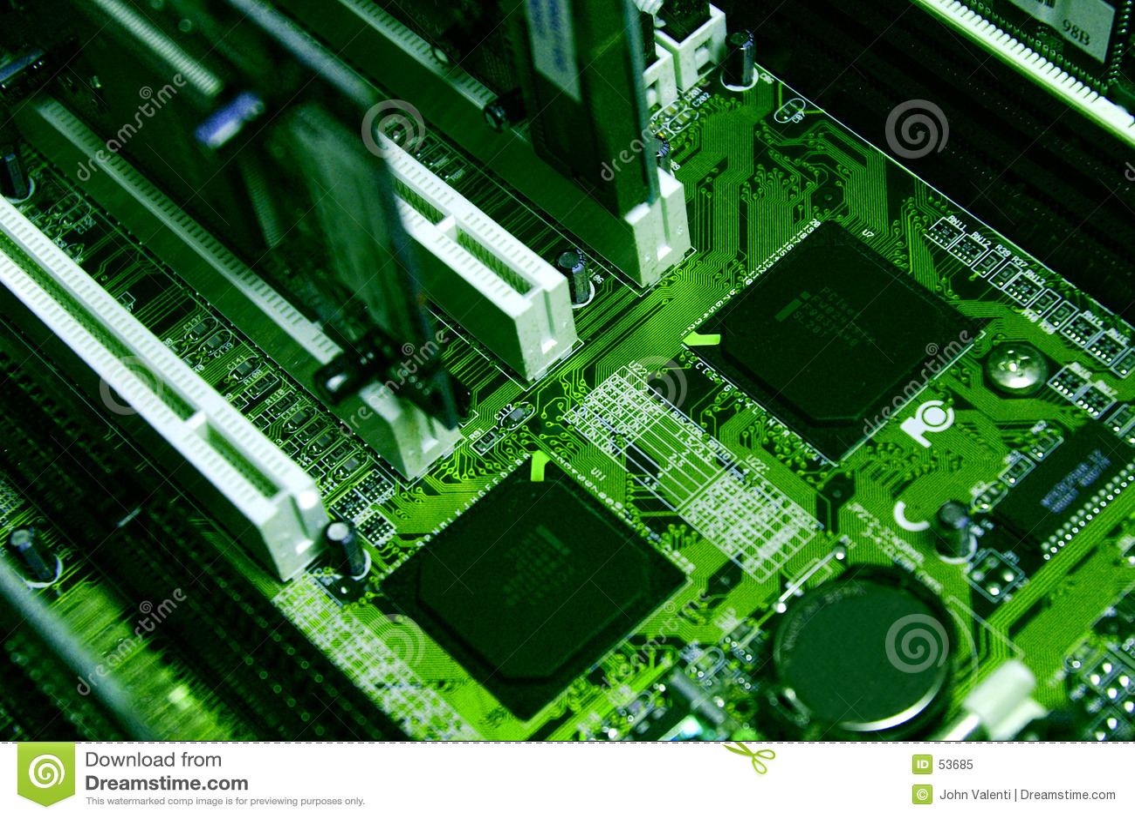ПК компонентов зеленый