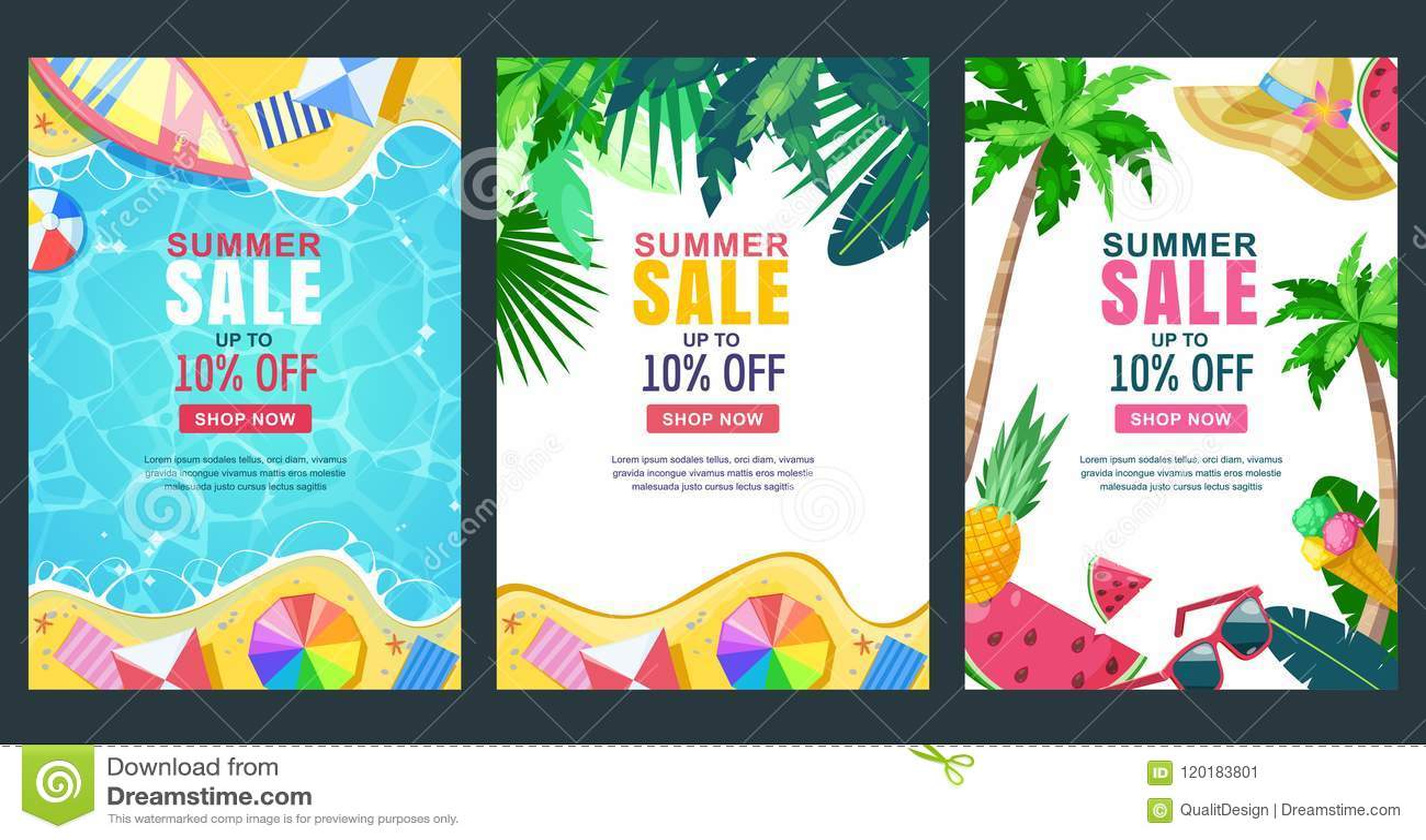 Плакат вектора продажи лета, шаблон знамени Предпосылки сезона Тропическая рамка с пляжем песка, водой, выходит и приносить