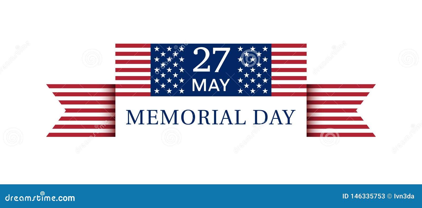 Плакат 27-ое мая 2019 Дня памяти погибших в войнах США