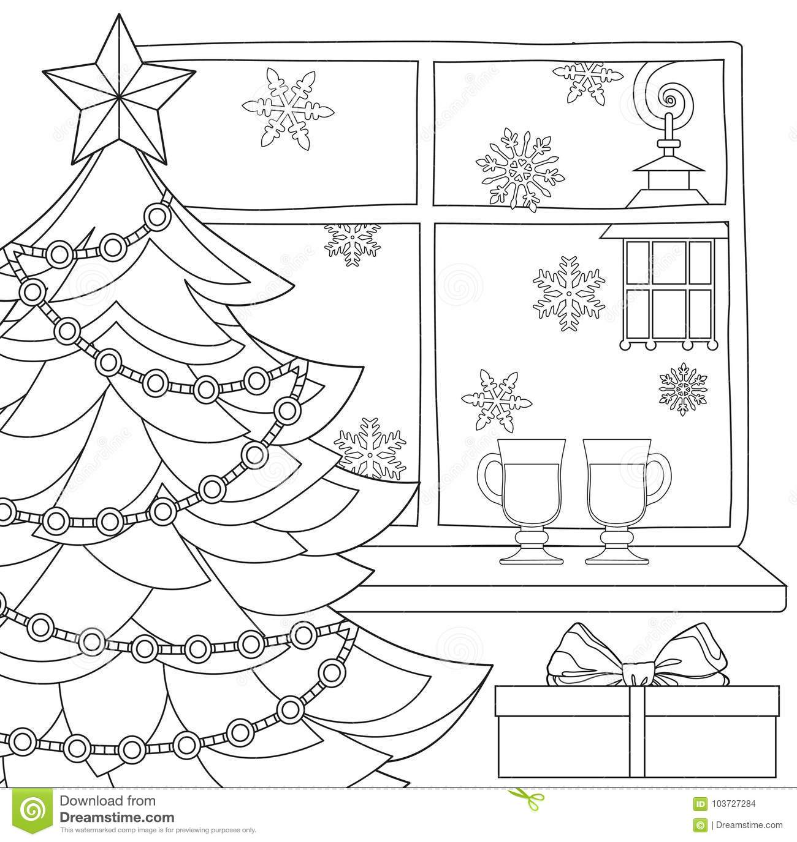 плакат темы рождества с деревом Xmas звездой светом