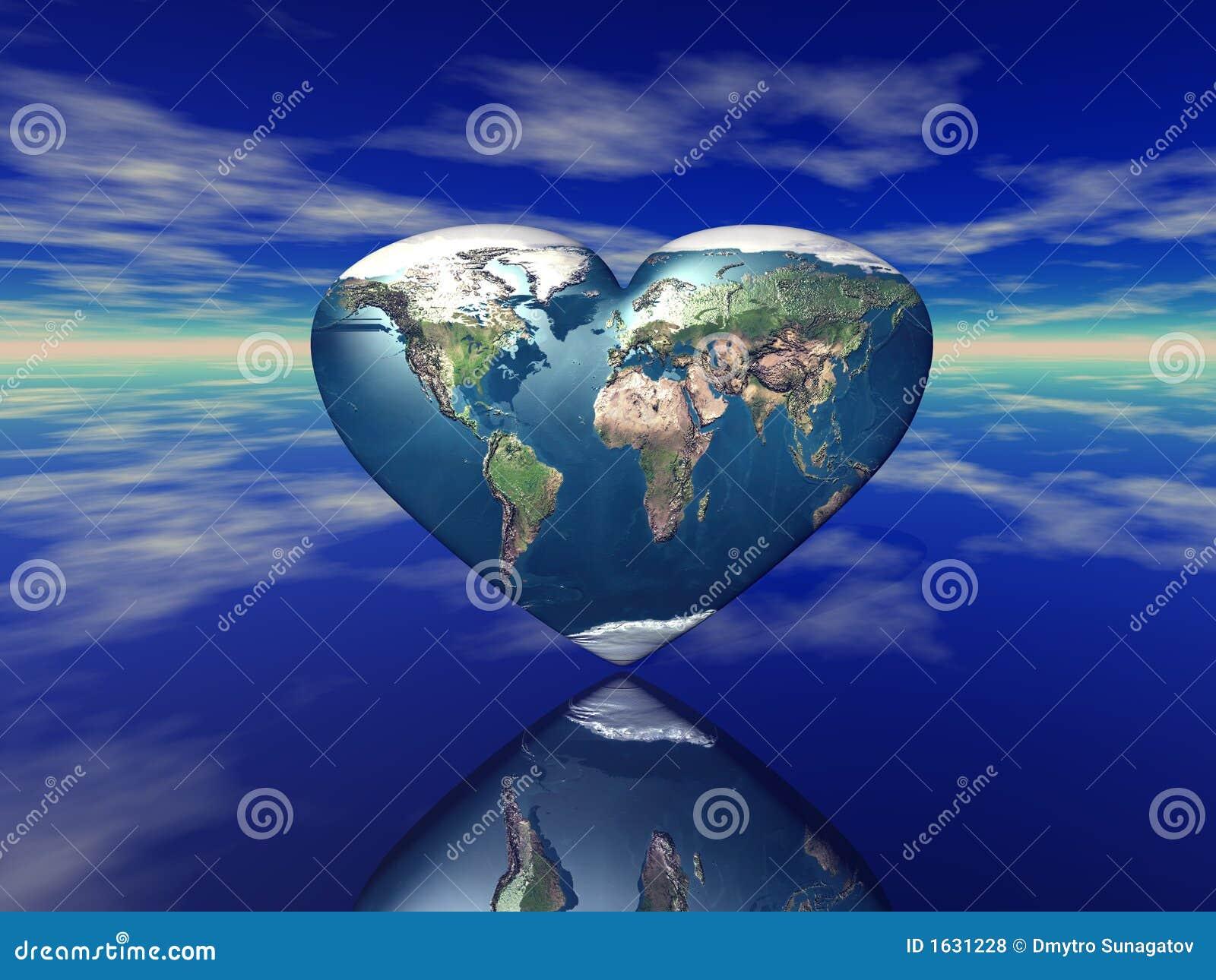планета сердца земли 3d представляет форменной