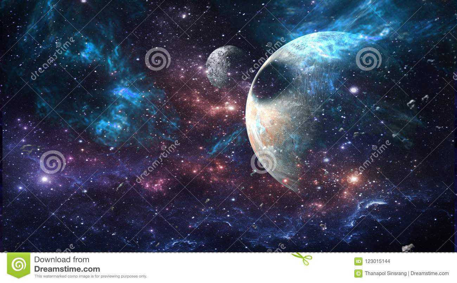 Планеты и галактика, обои научной фантастики Красота глубокого космоса