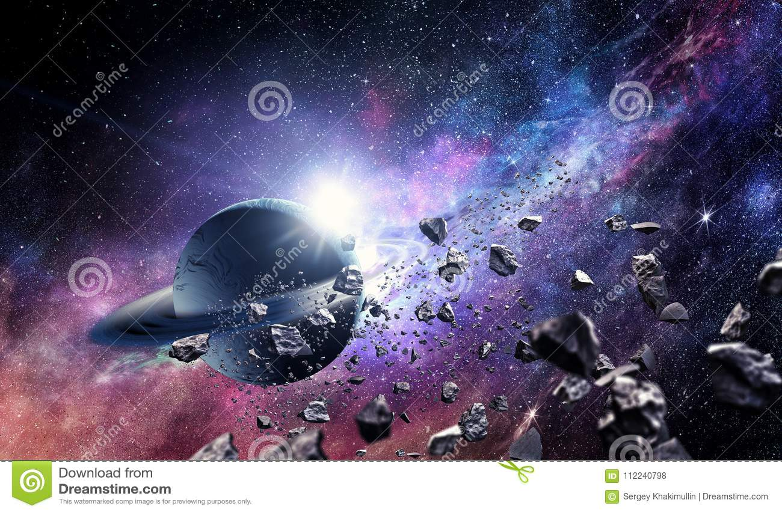 Планеты и межзвёздное облако космоса