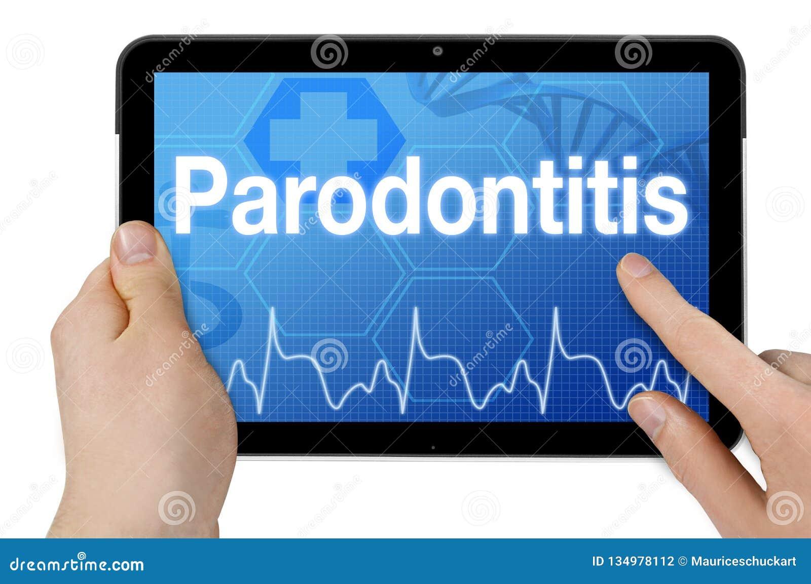 Планшет с немецким словом для periodontitis - Parodontitis