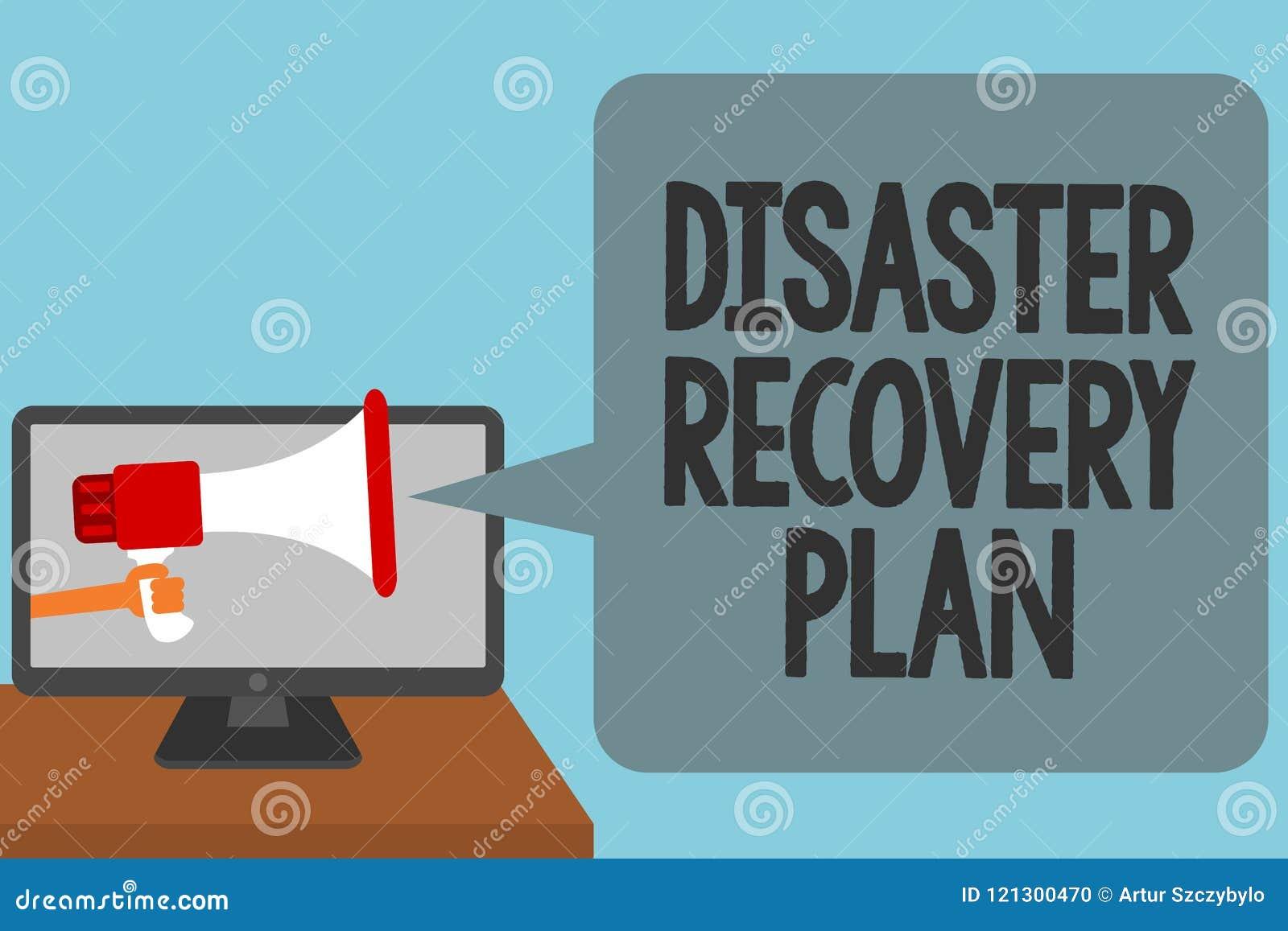 План восстановления после бедствия текста сочинительства слова Концепция дела для иметь резервные измерения против тревожить опас