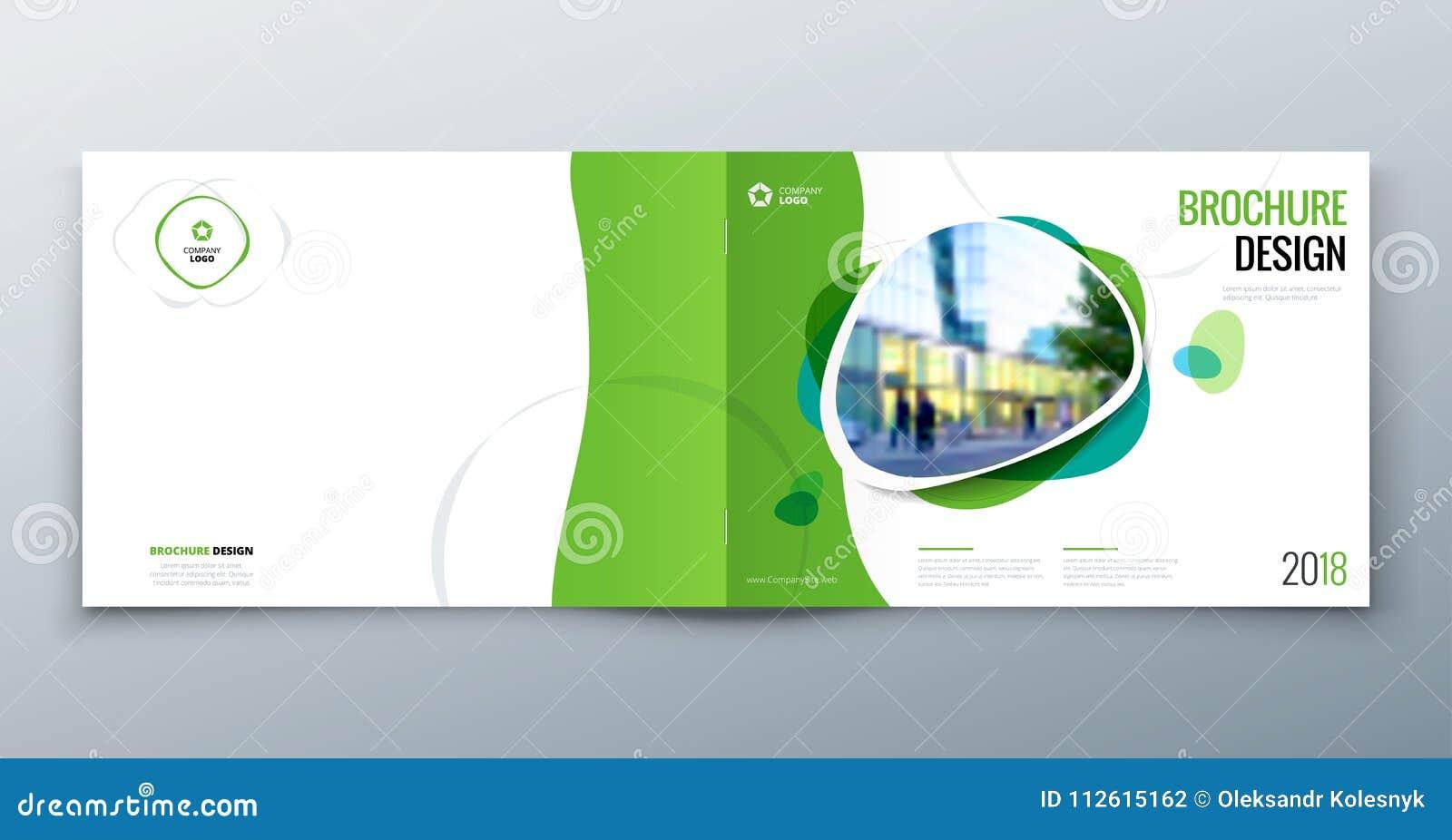 План шаблона брошюры, годовой отчет дизайна крышки, кассета, рогулька или буклет в A4 с геометрическими формами вектор