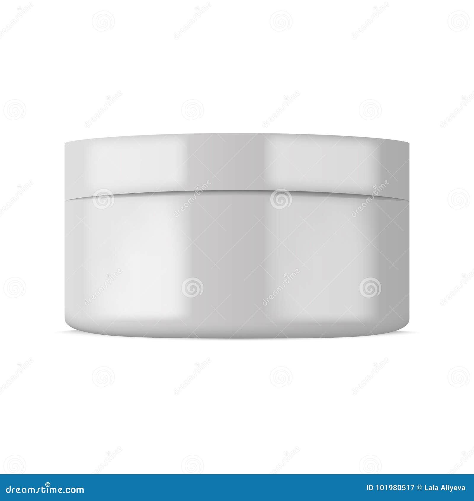 Пластичный косметический контейнер для сливк или порошка вектор