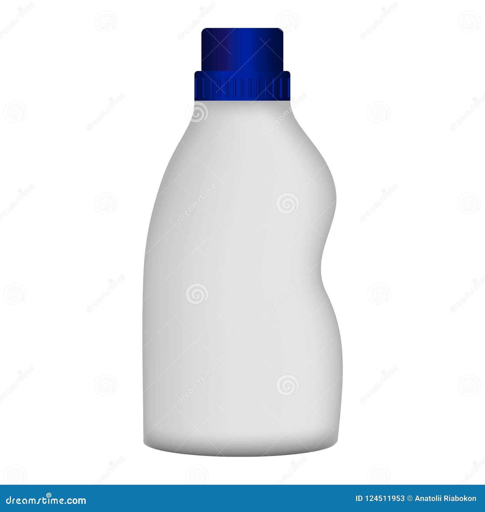 Пластичный модель-макет уборщика бутылки, реалистический стиль