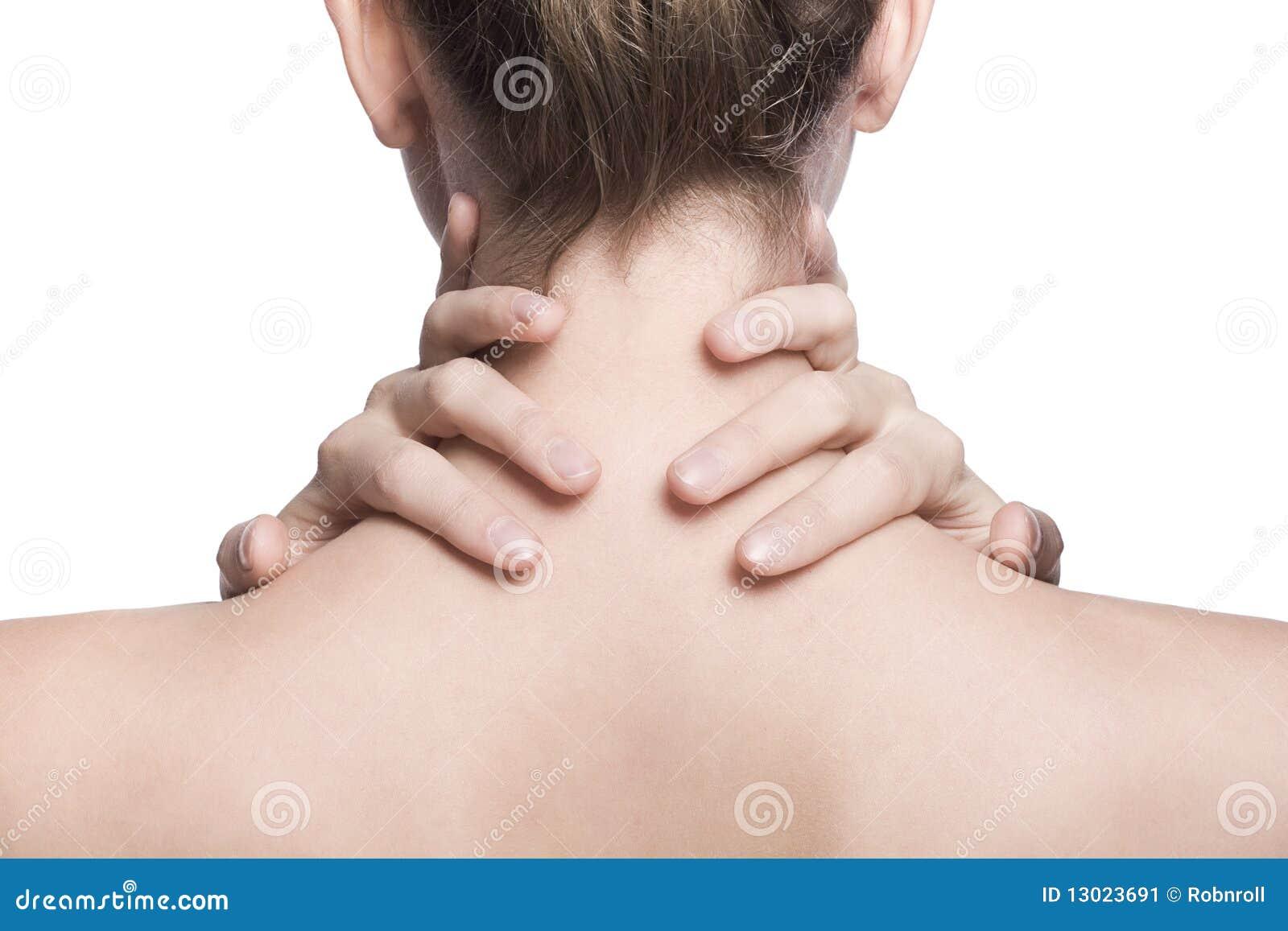 плечо съемки шеи крупного плана