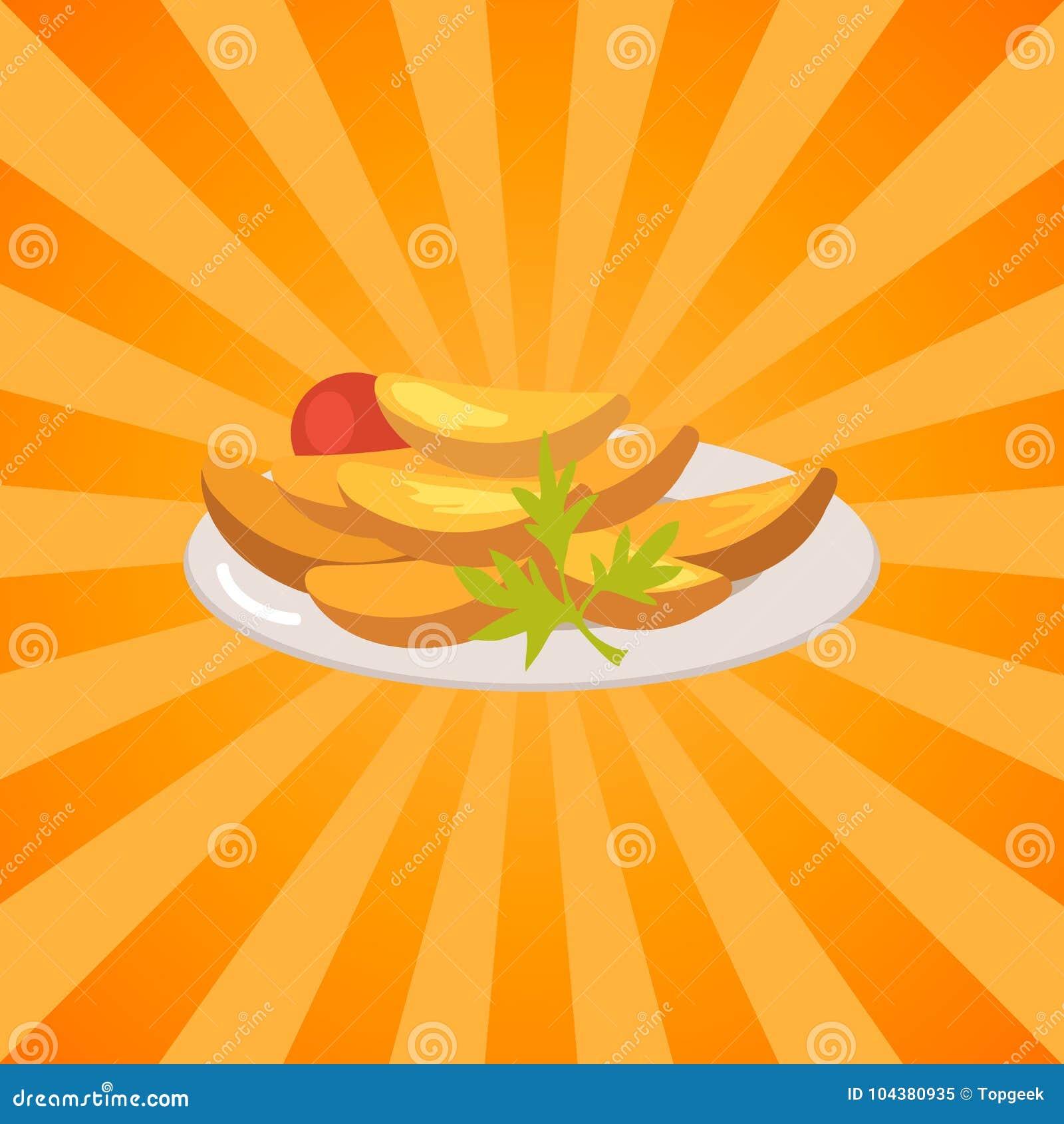 Плита вполне картошек и овощей испеченных едой