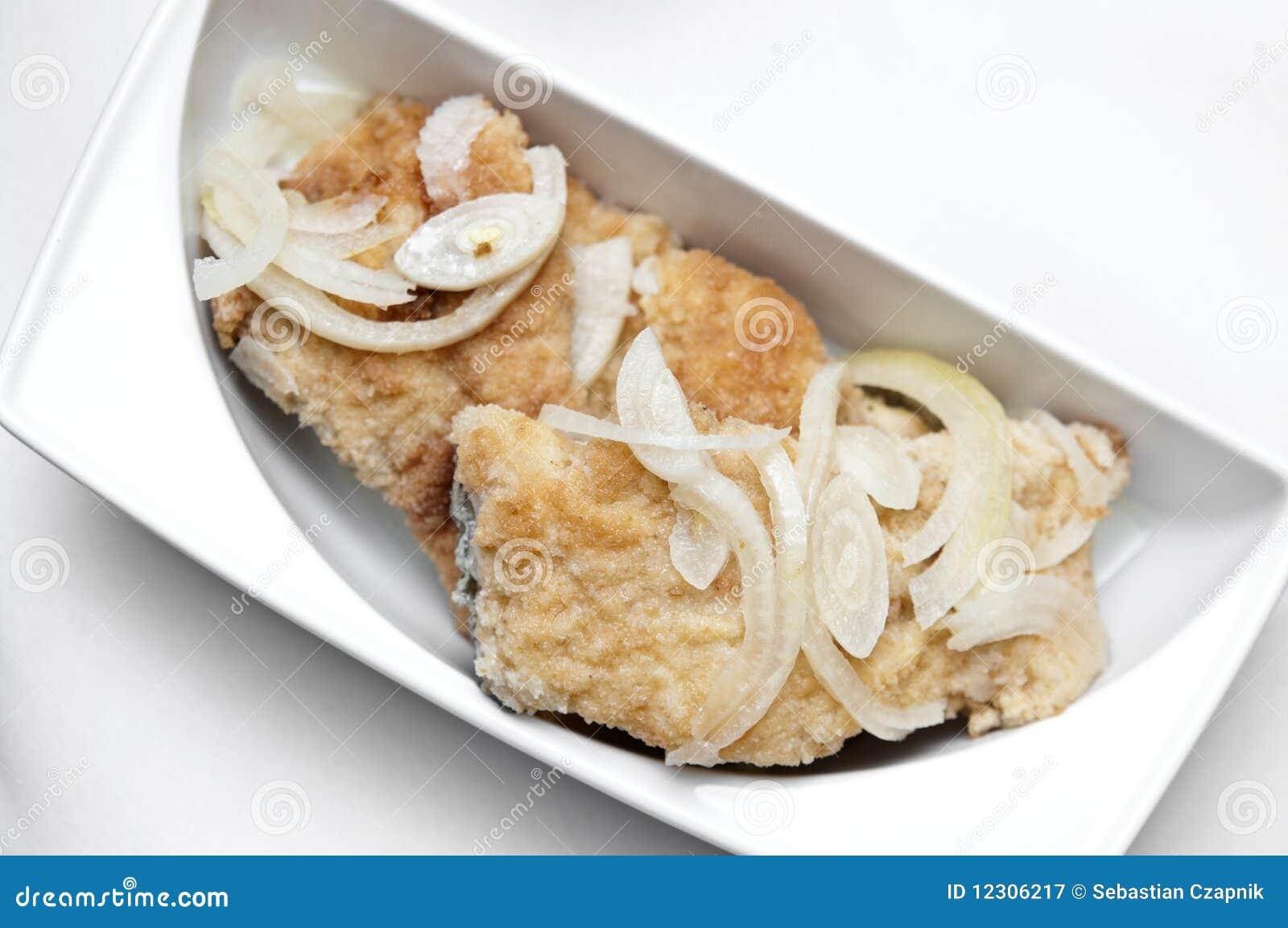 плита еды рыб