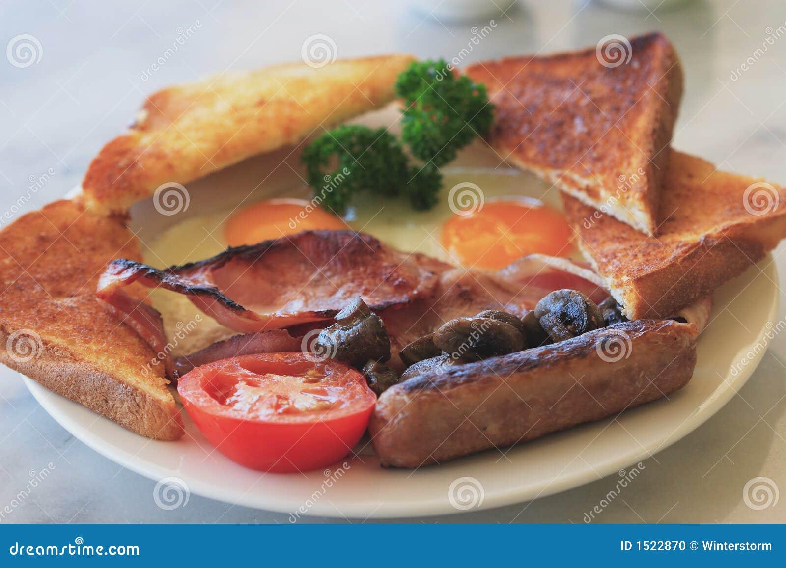 плита завтрака полная