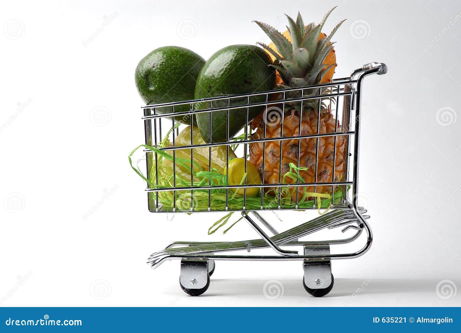 Download плодоовощ 2 тележек стоковое изображение. изображение насчитывающей плодоовощ - 635221