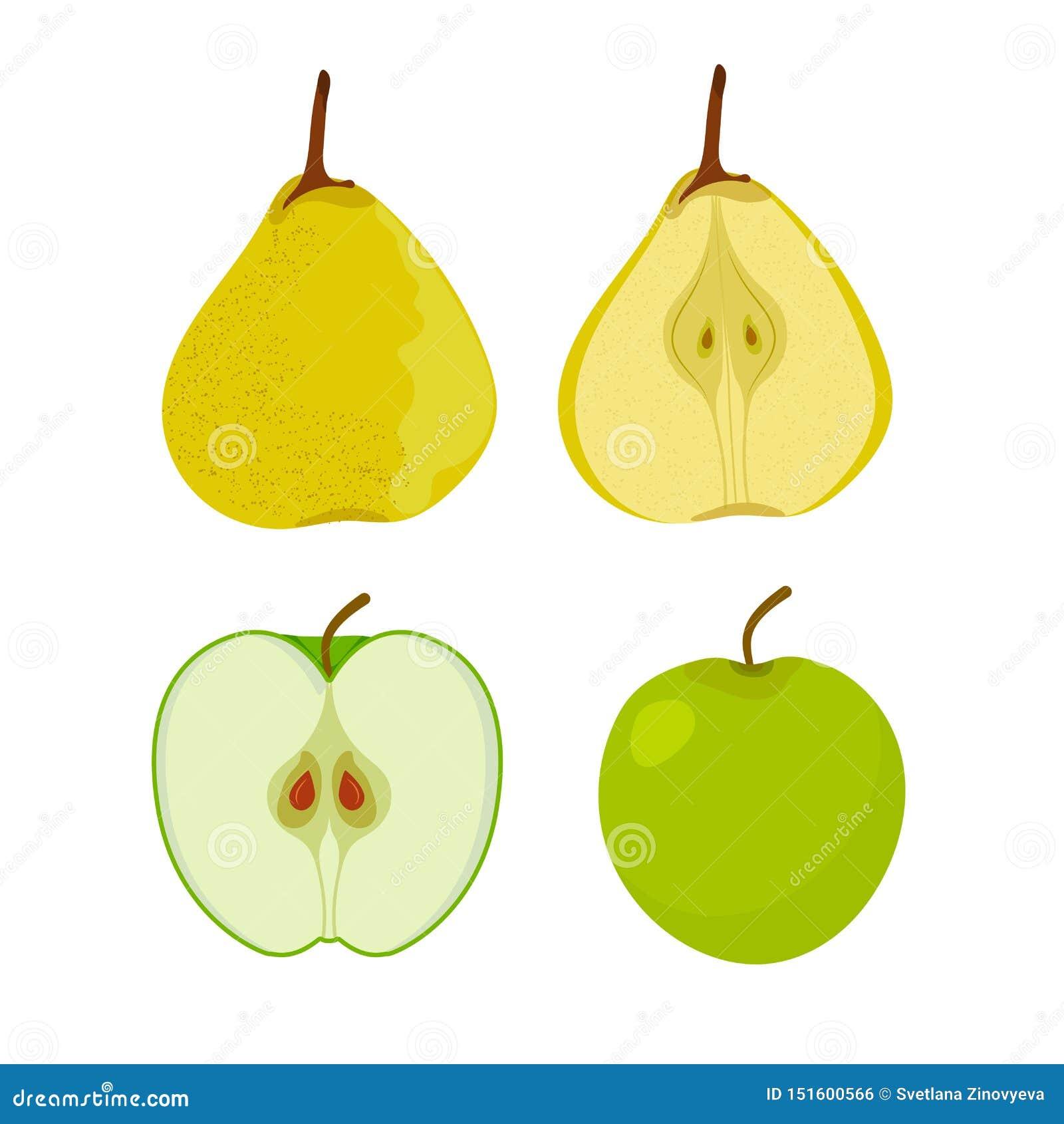 Плоды сети Яблоко, груша r r