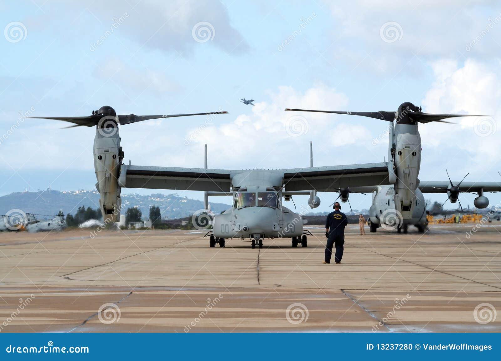 плоскость osprey морских пехотинцов мы