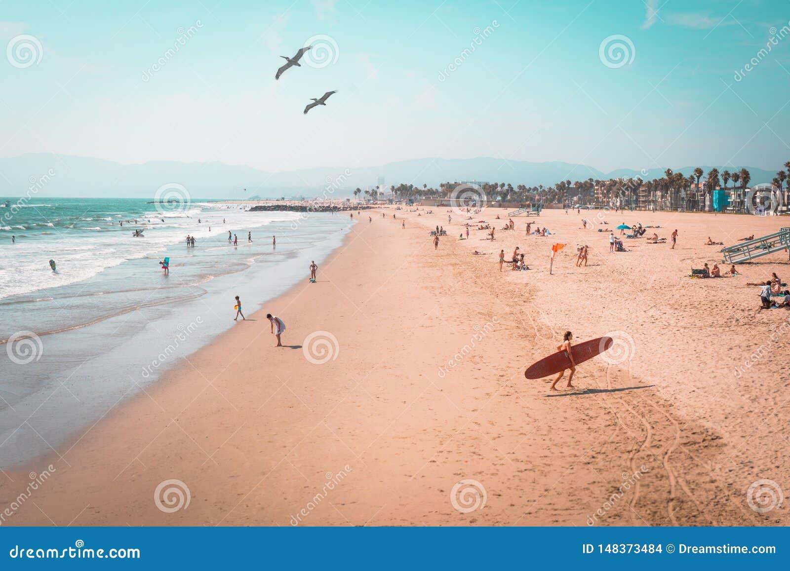 Пляж Венеции около 1980?