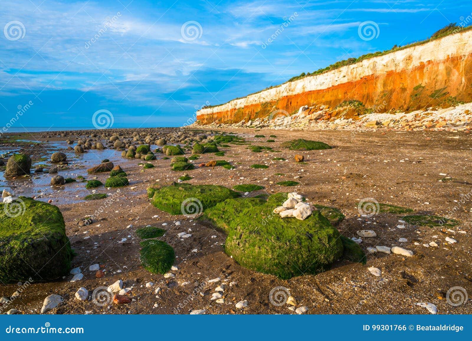 Пляж в Hunstanton, Норфолке, Великобритании