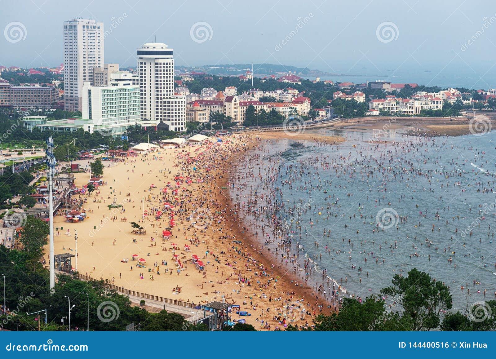 Пляж в Qingdao
