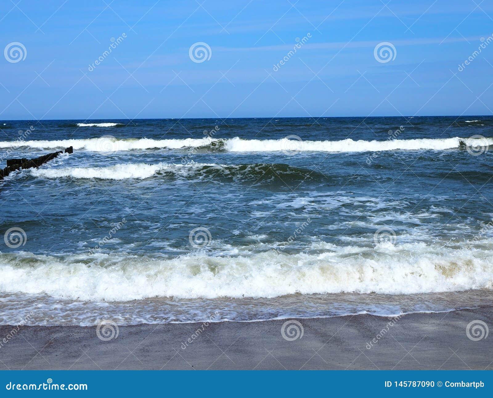 Пляж и море Красивый ландшафт