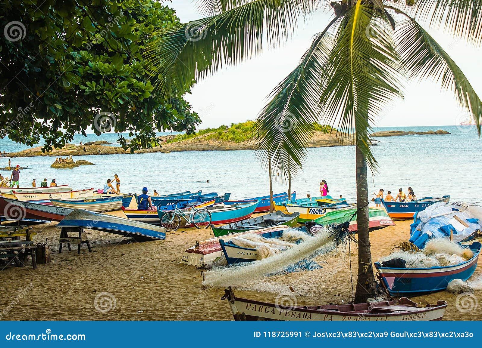 Пляж Косты da Прая, Vila Velha, положение EspÃrito Santo, Бразилия