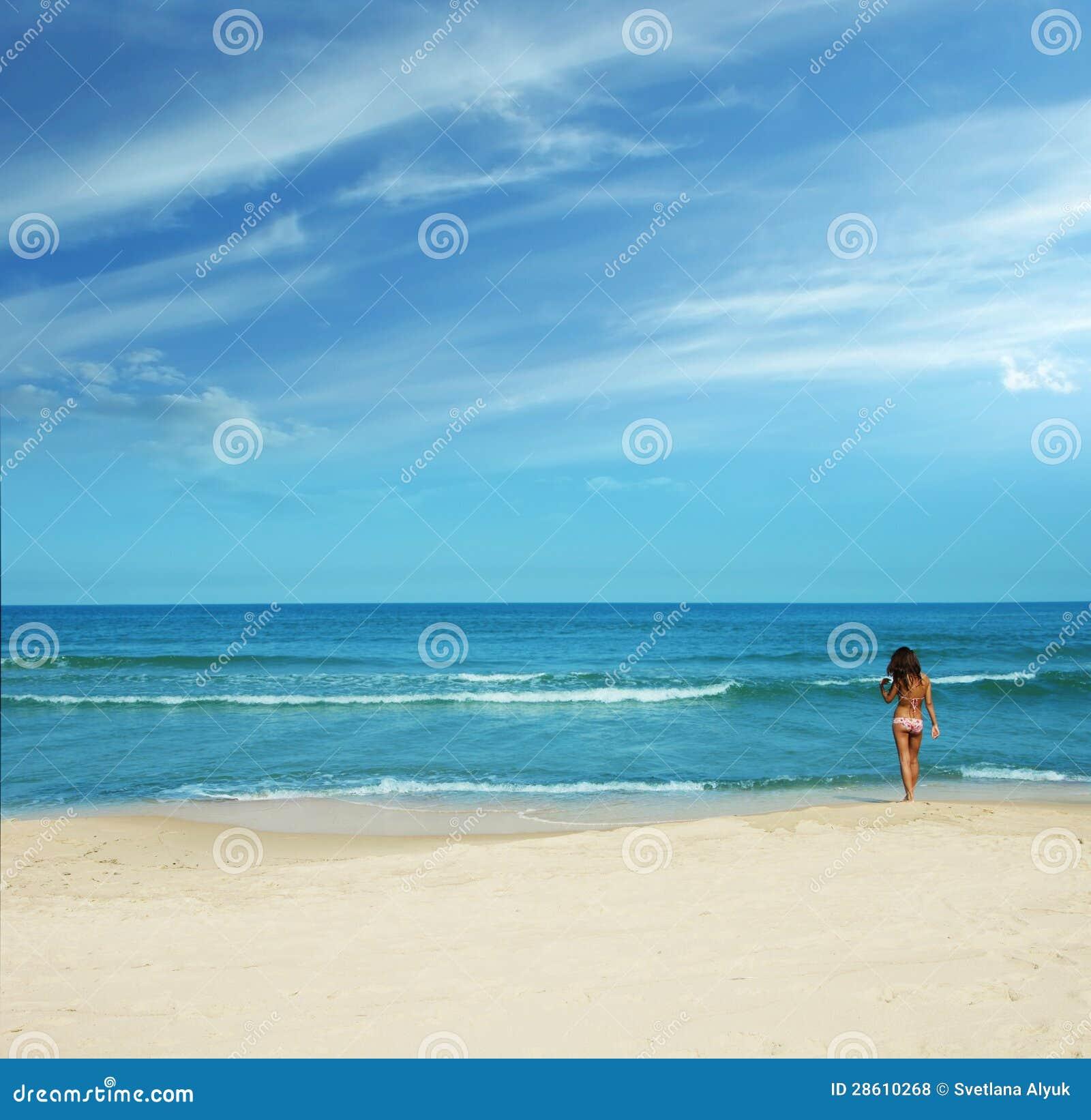 Пляж лета