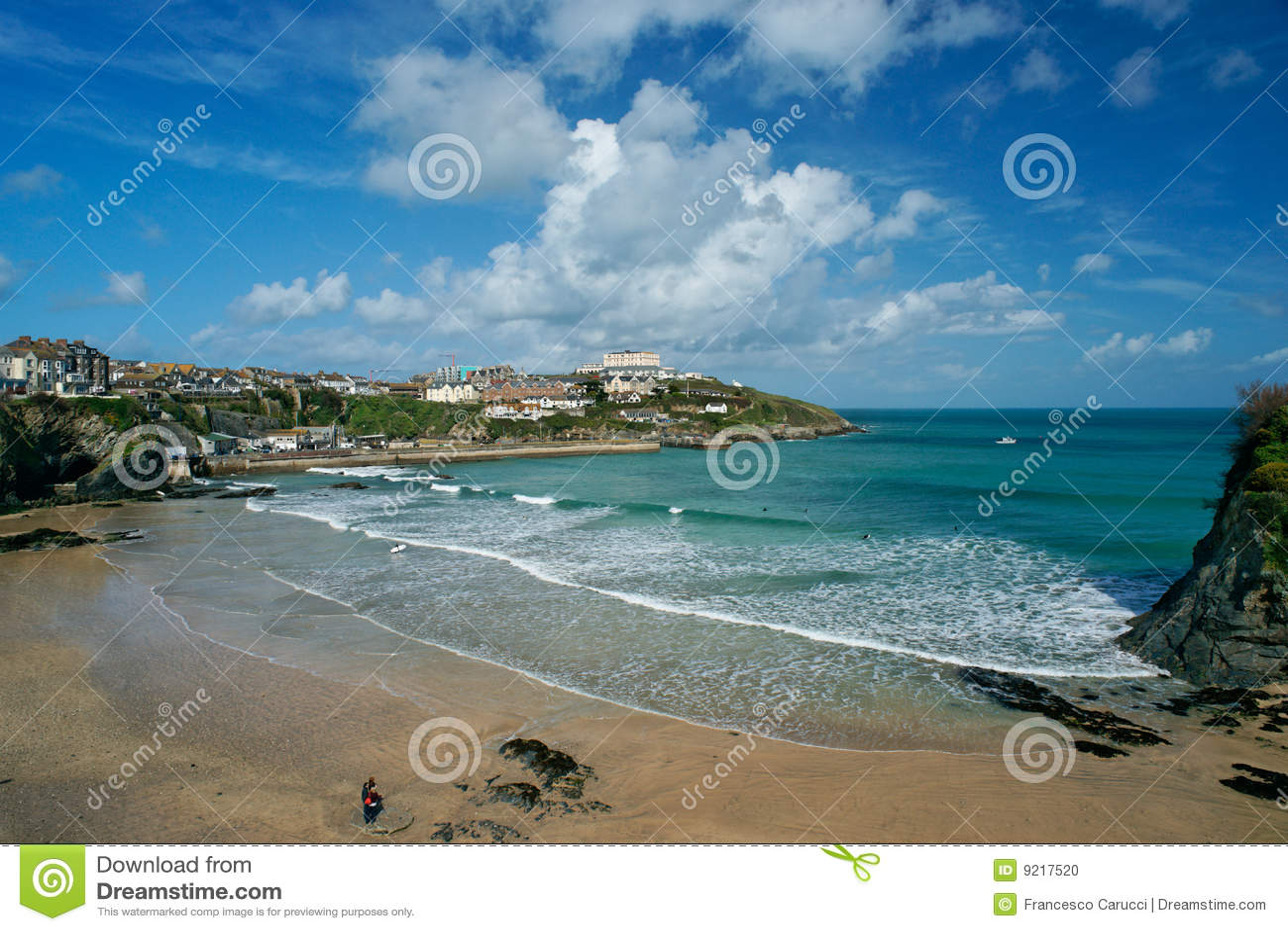 пляж cornwall newquay