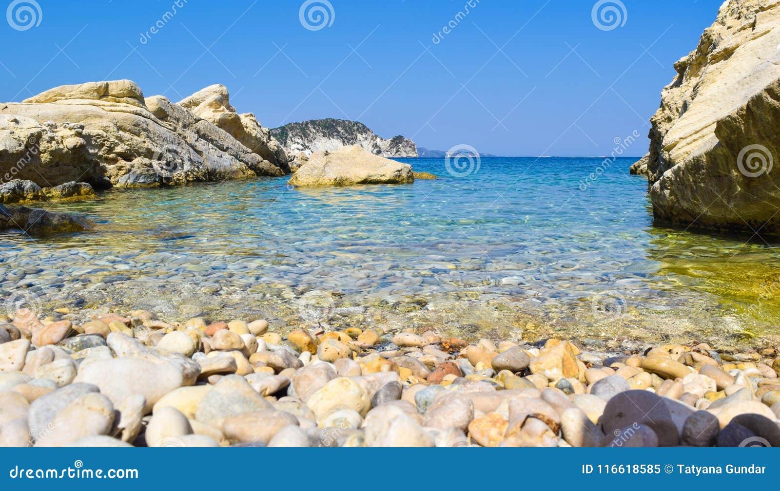 Пляж Marathias, остров Закинфа, Греция
