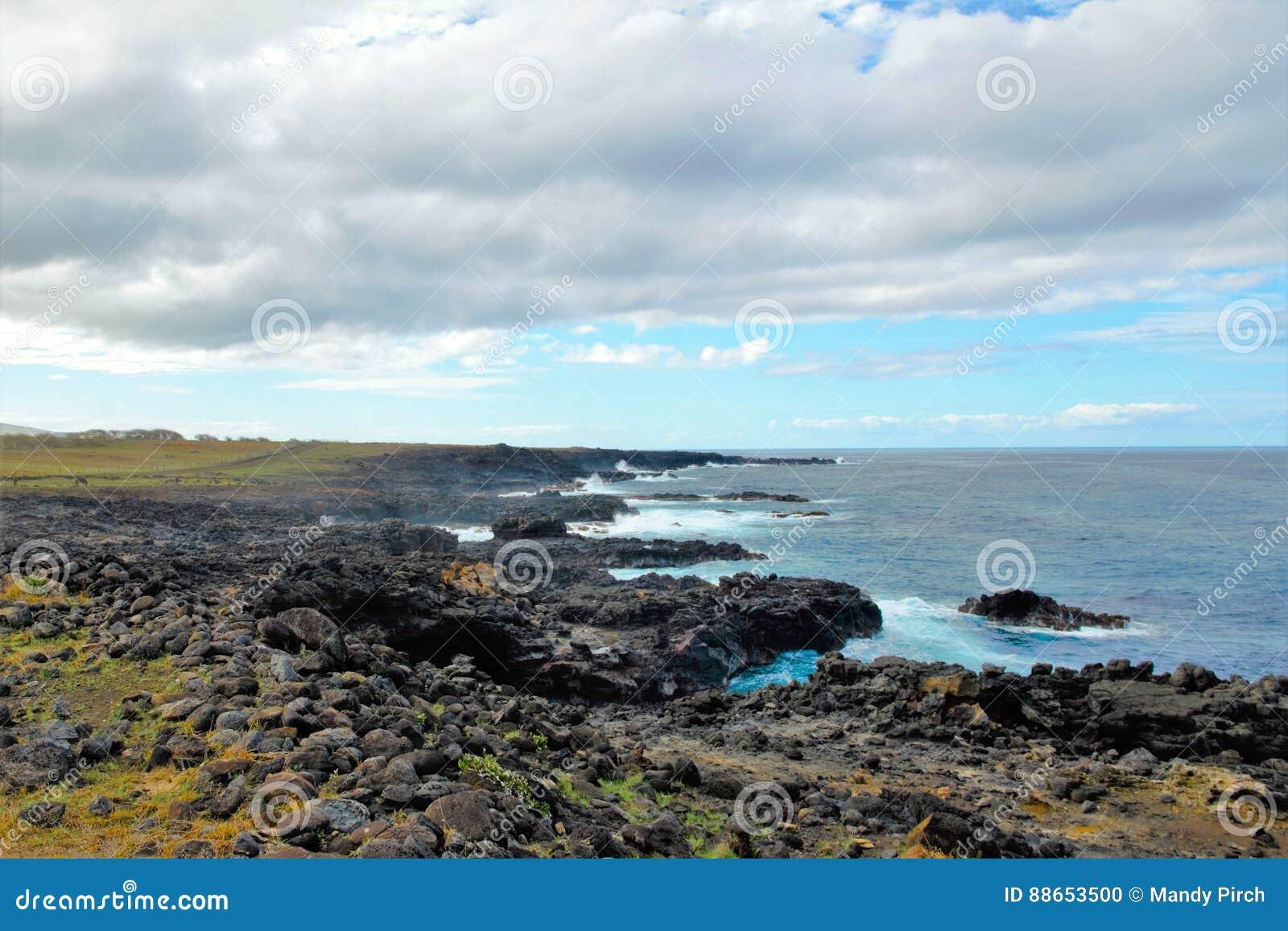 Побережья вокруг острова пасхи