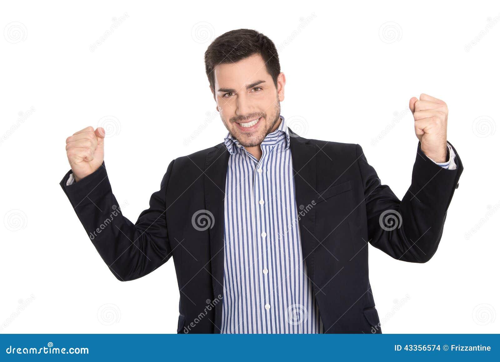 Победитель: Изолированное успешное дело в выигрывая представлении с высокой