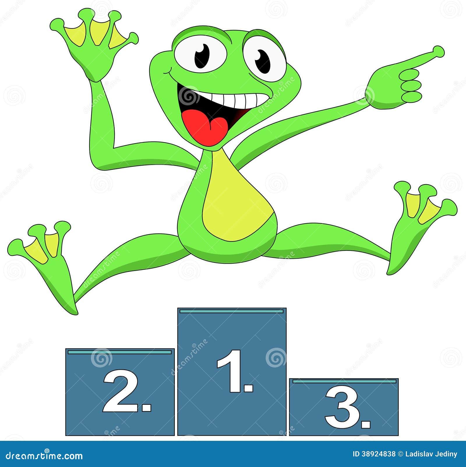 Победитель лягушки счастливый