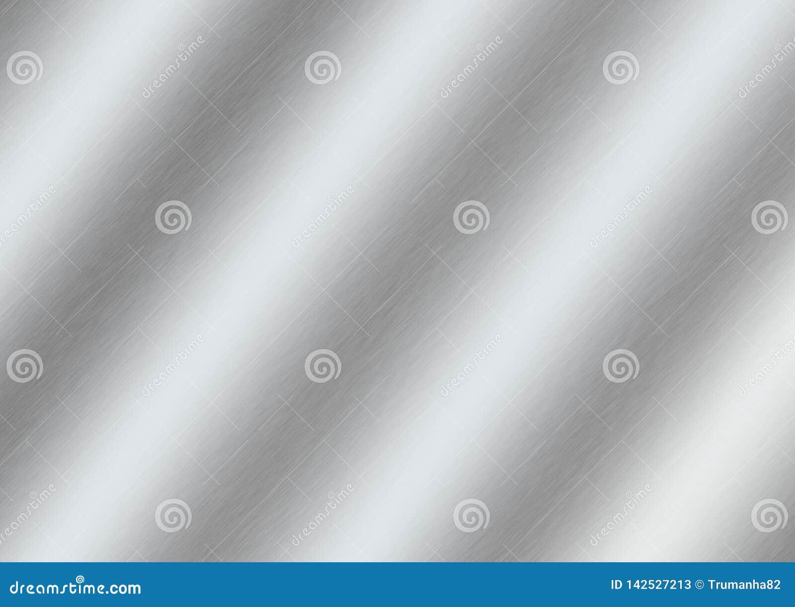 Поверхность конспекта сияющая почищенная щеткой серебряная для предпосылки